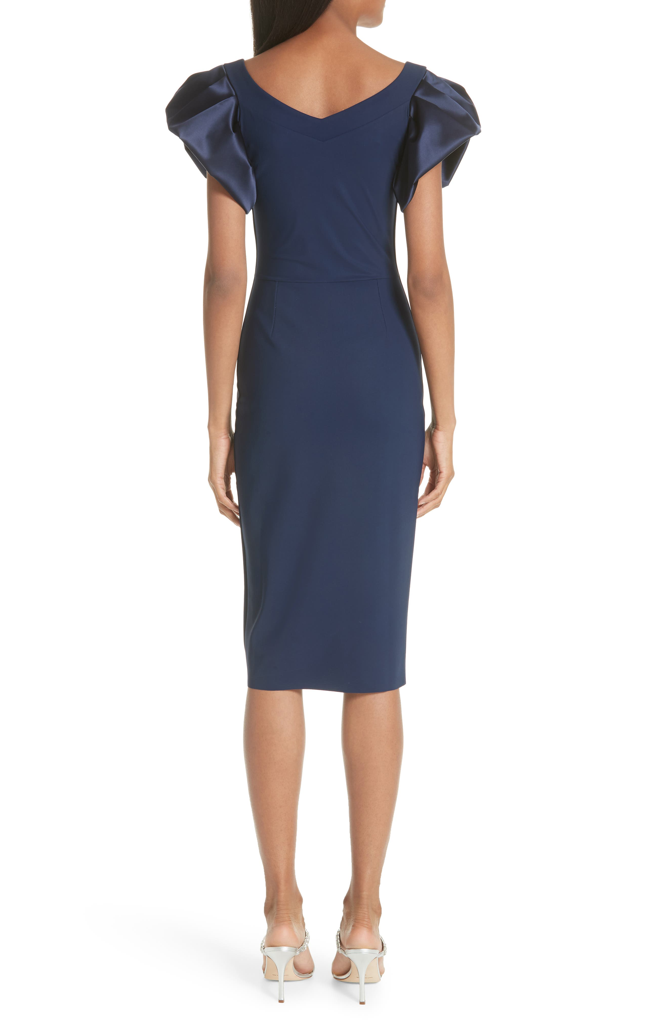 Eunice Jersey Sheath Dress,                             Alternate thumbnail 2, color,                             Blue Notte
