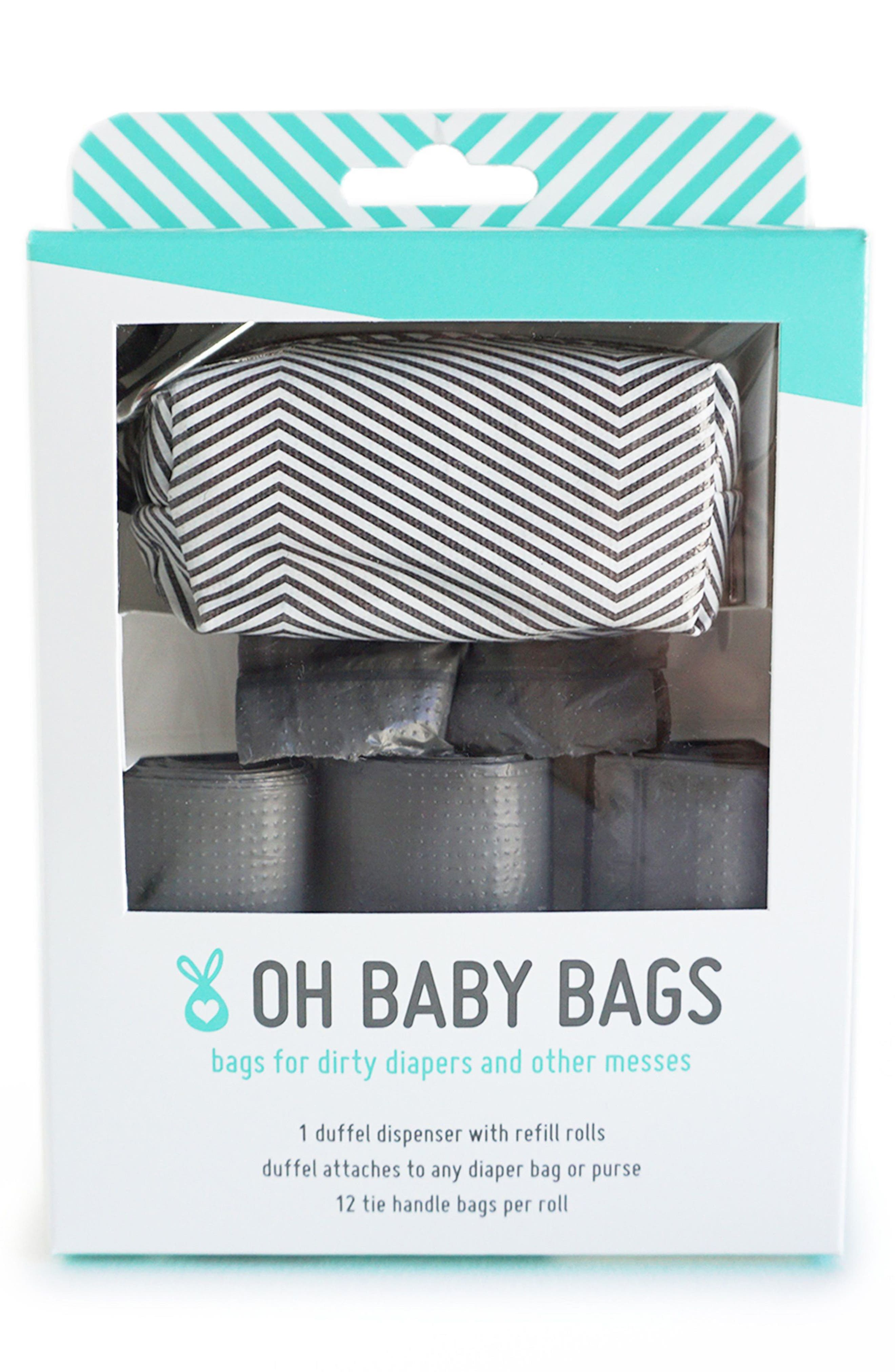Oh Baby Bags Portable Clip-On Dispenser with Bags