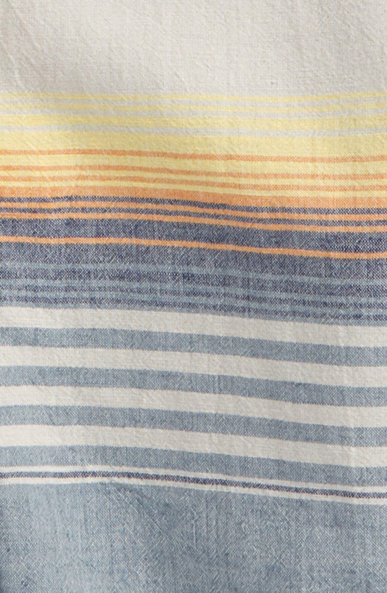 Chambray Stripe Shirt,                             Alternate thumbnail 2, color,                             Blue Chambray Sunset Stripe