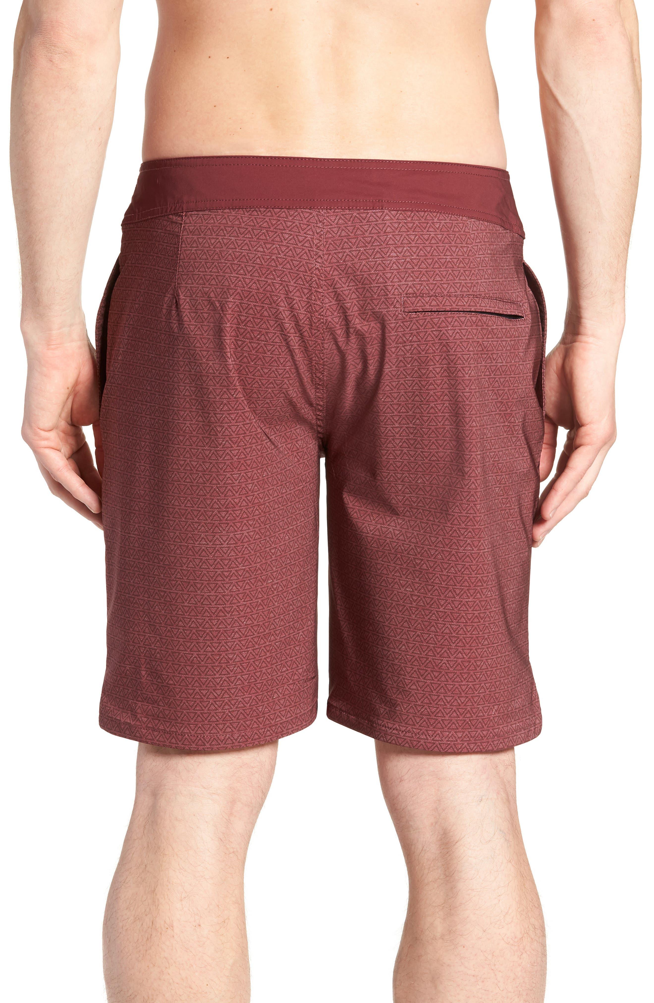 Blanders Regular Fit Board Shorts,                             Alternate thumbnail 2, color,                             Oxblood
