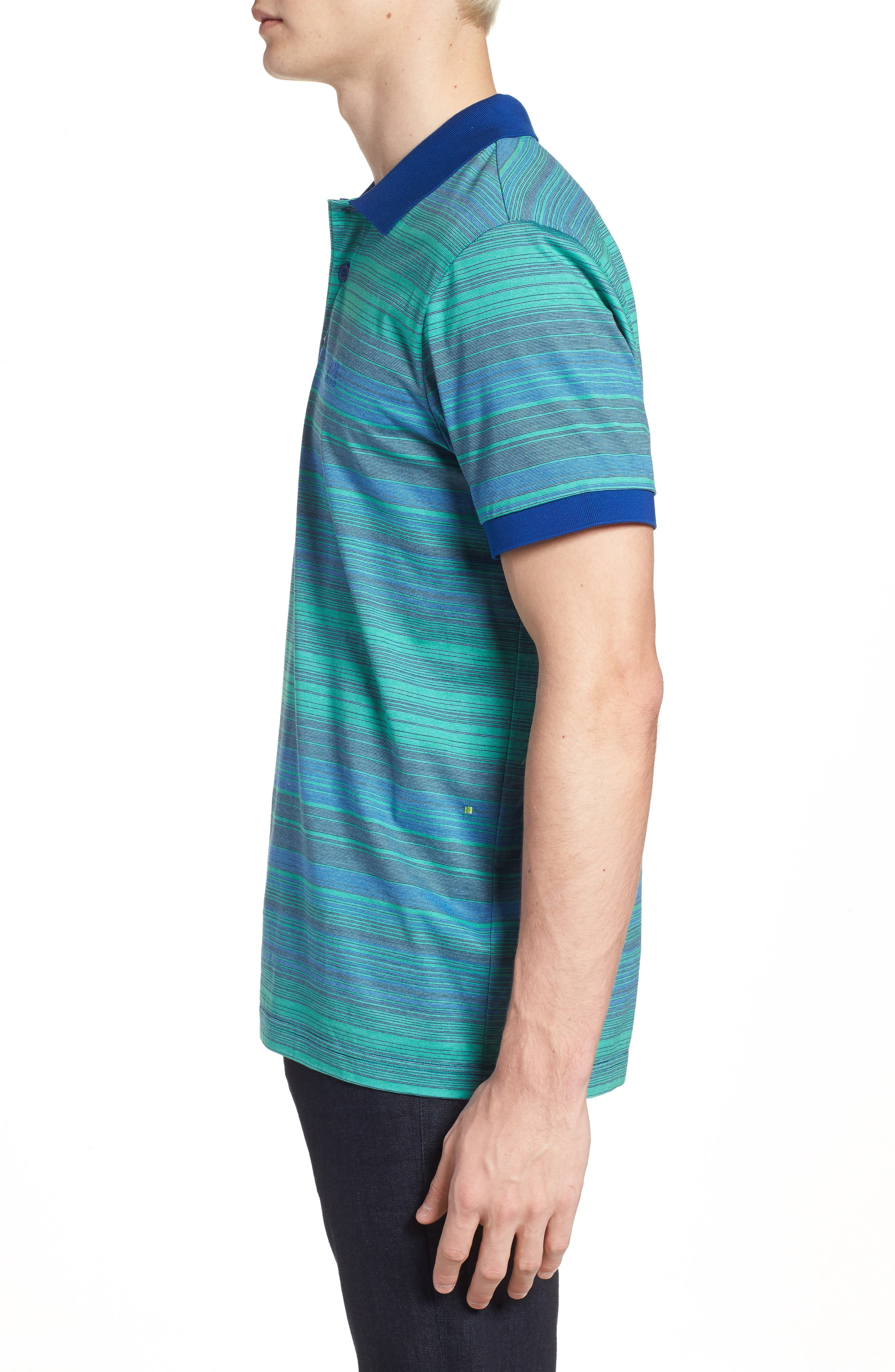 Paddy 3 Regular Fit Polo,                             Alternate thumbnail 3, color,                             Blue