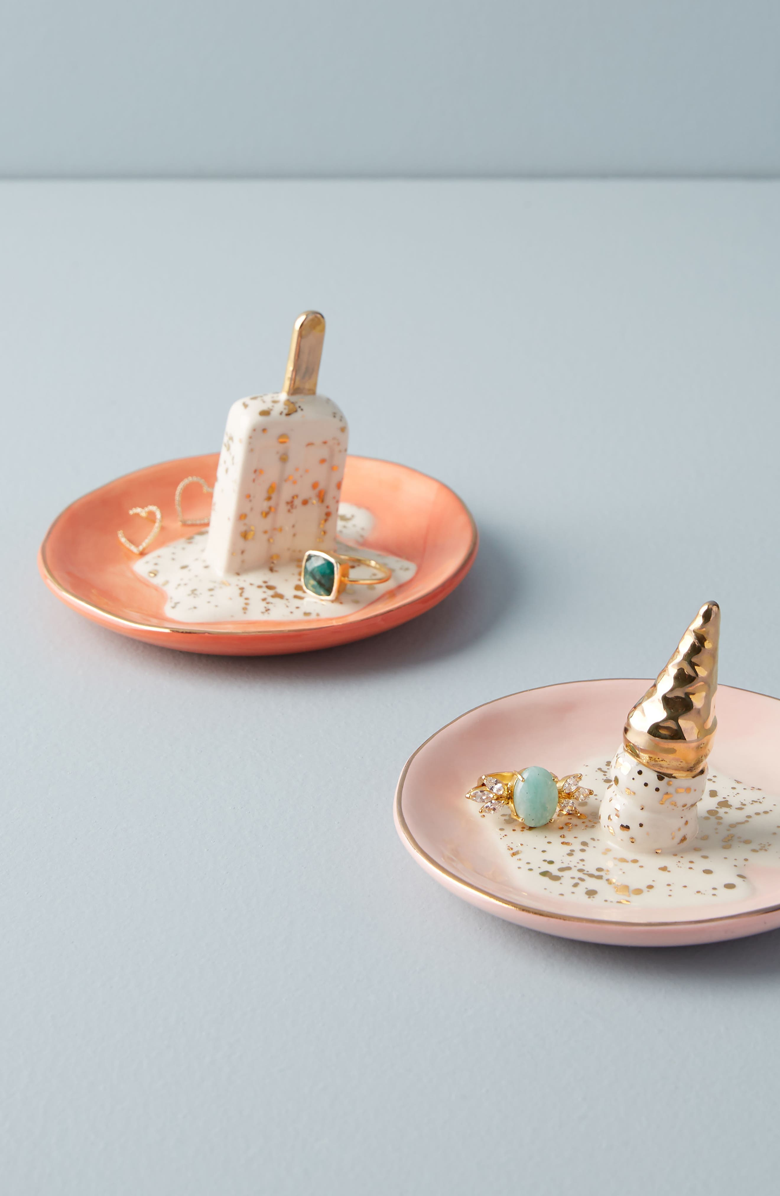 Summer Scoops Trinket Tray,                             Alternate thumbnail 2, color,                             Coral