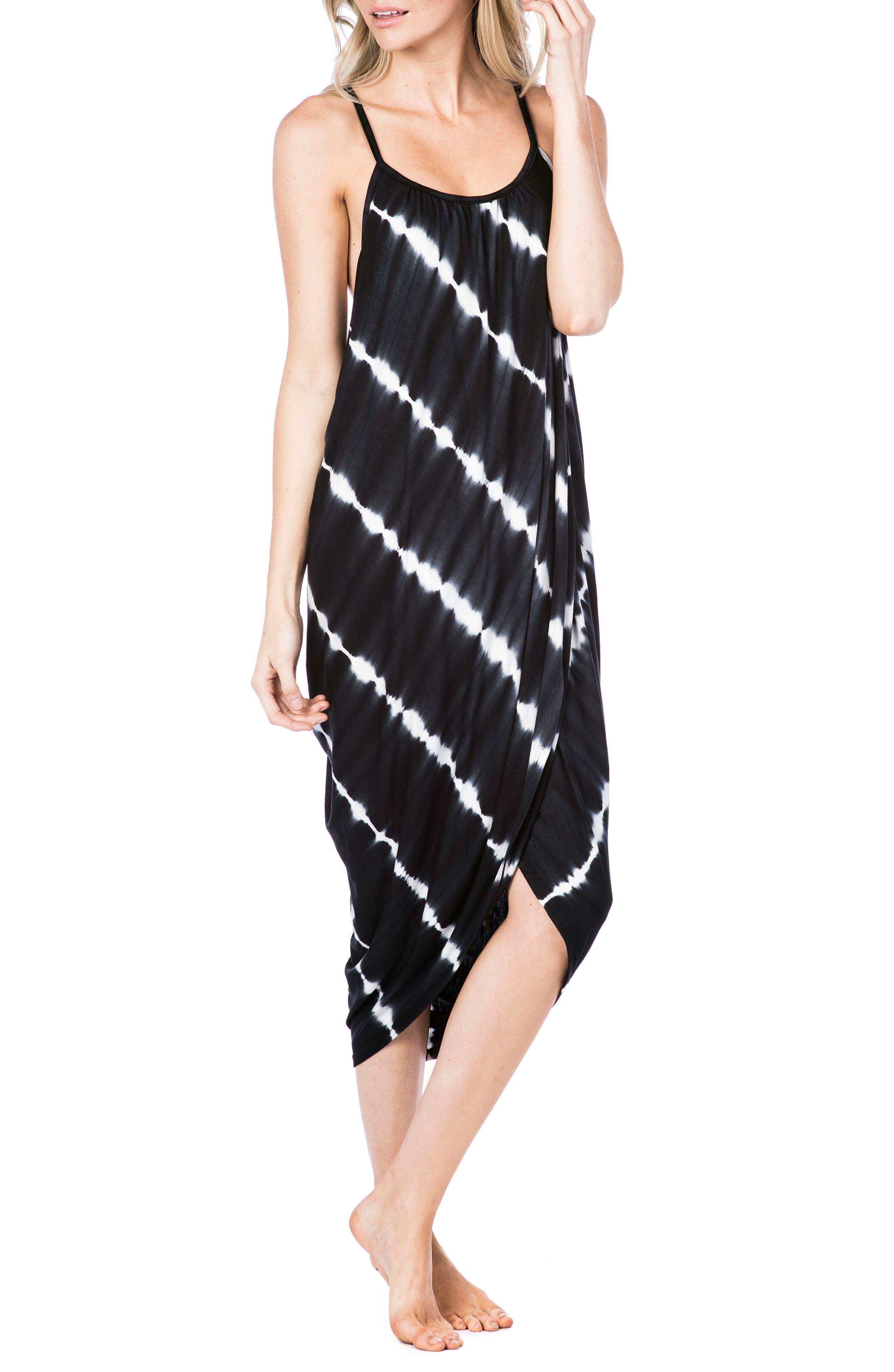 Pali Cover-Up Wrap Dress,                             Main thumbnail 1, color,                             Black