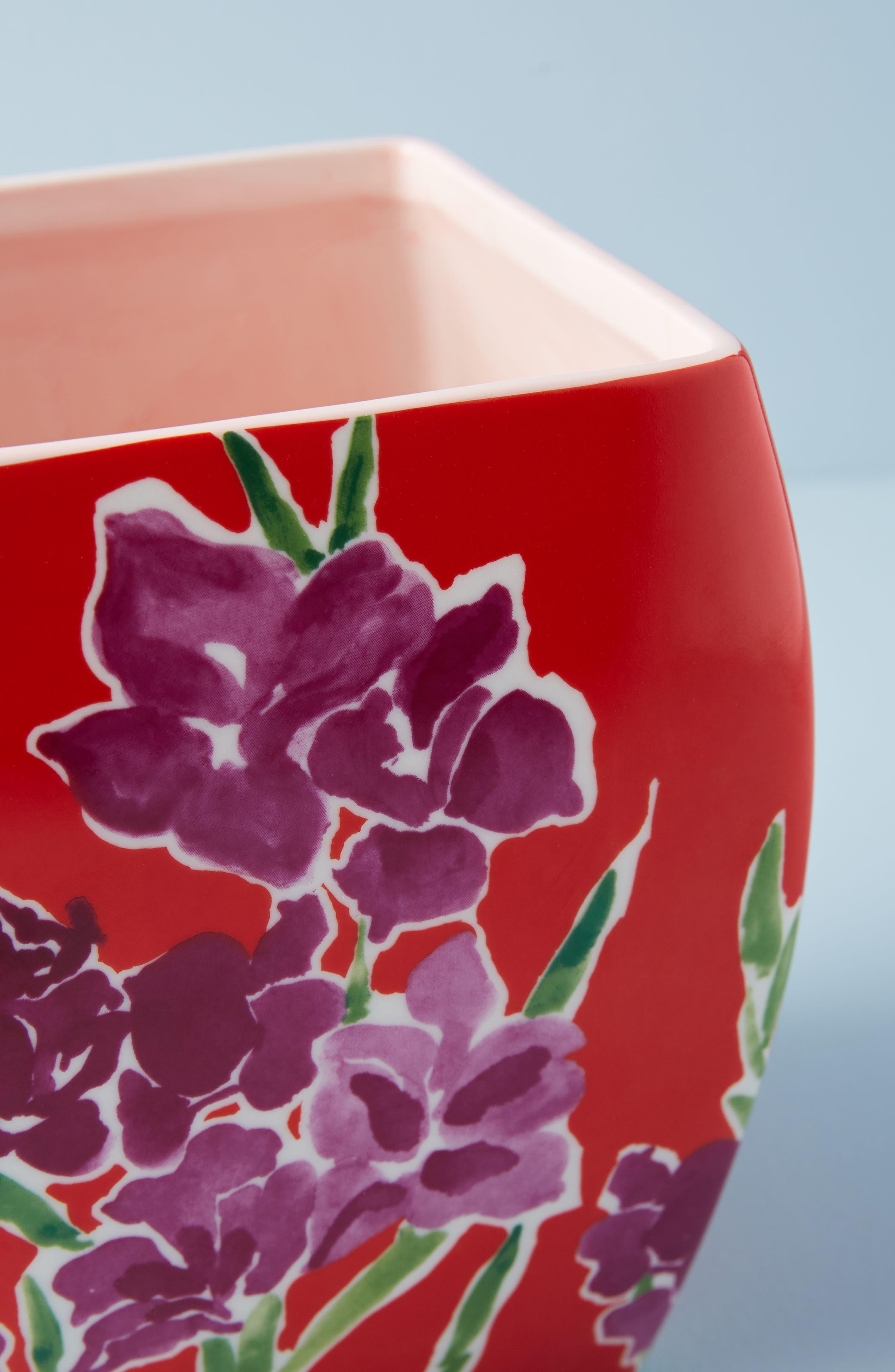 Sisters Gulassa Floral Pot,                             Alternate thumbnail 2, color,                             Red