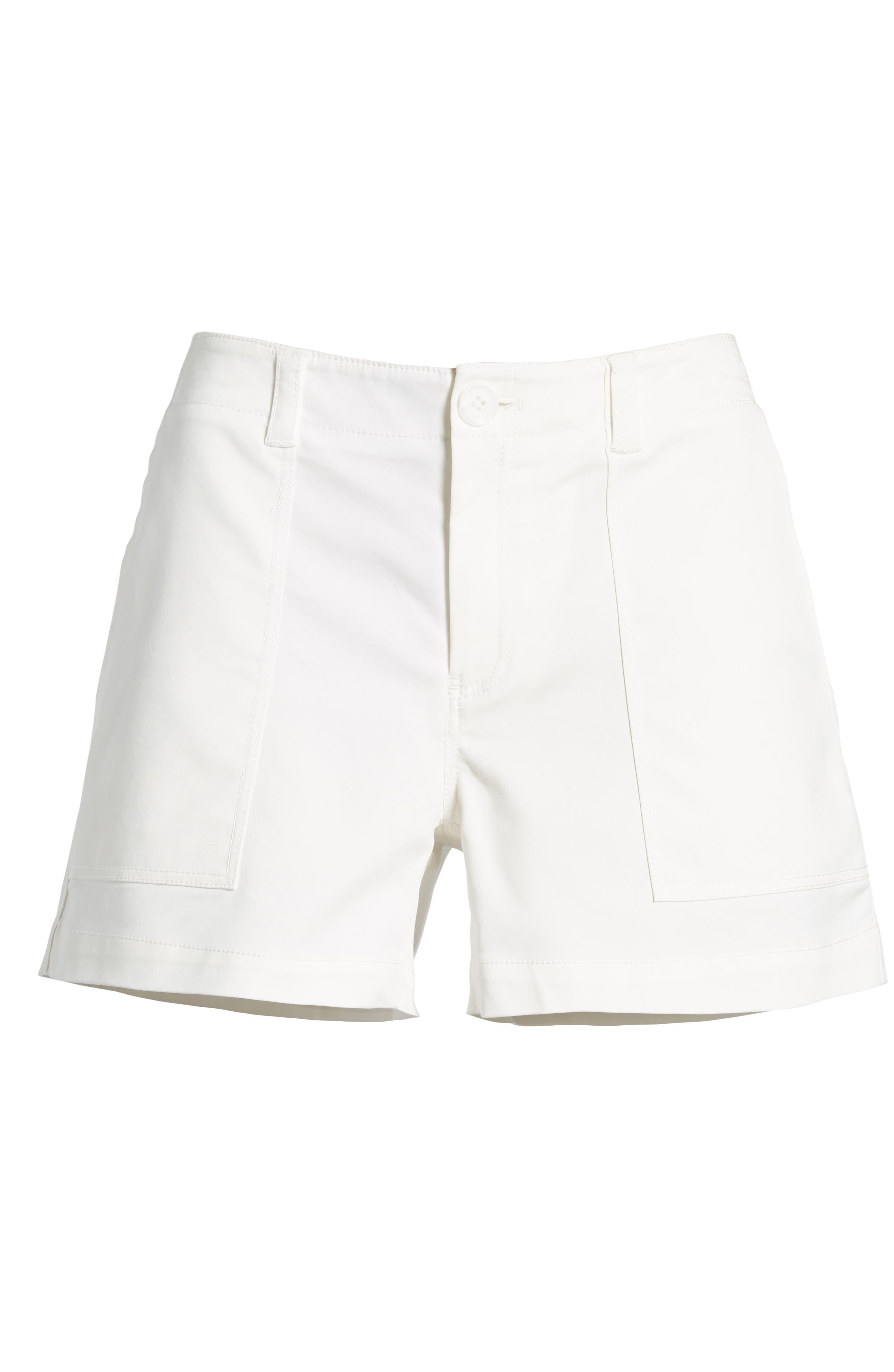 Patch Pocket Shorts,                             Alternate thumbnail 6, color,                             White