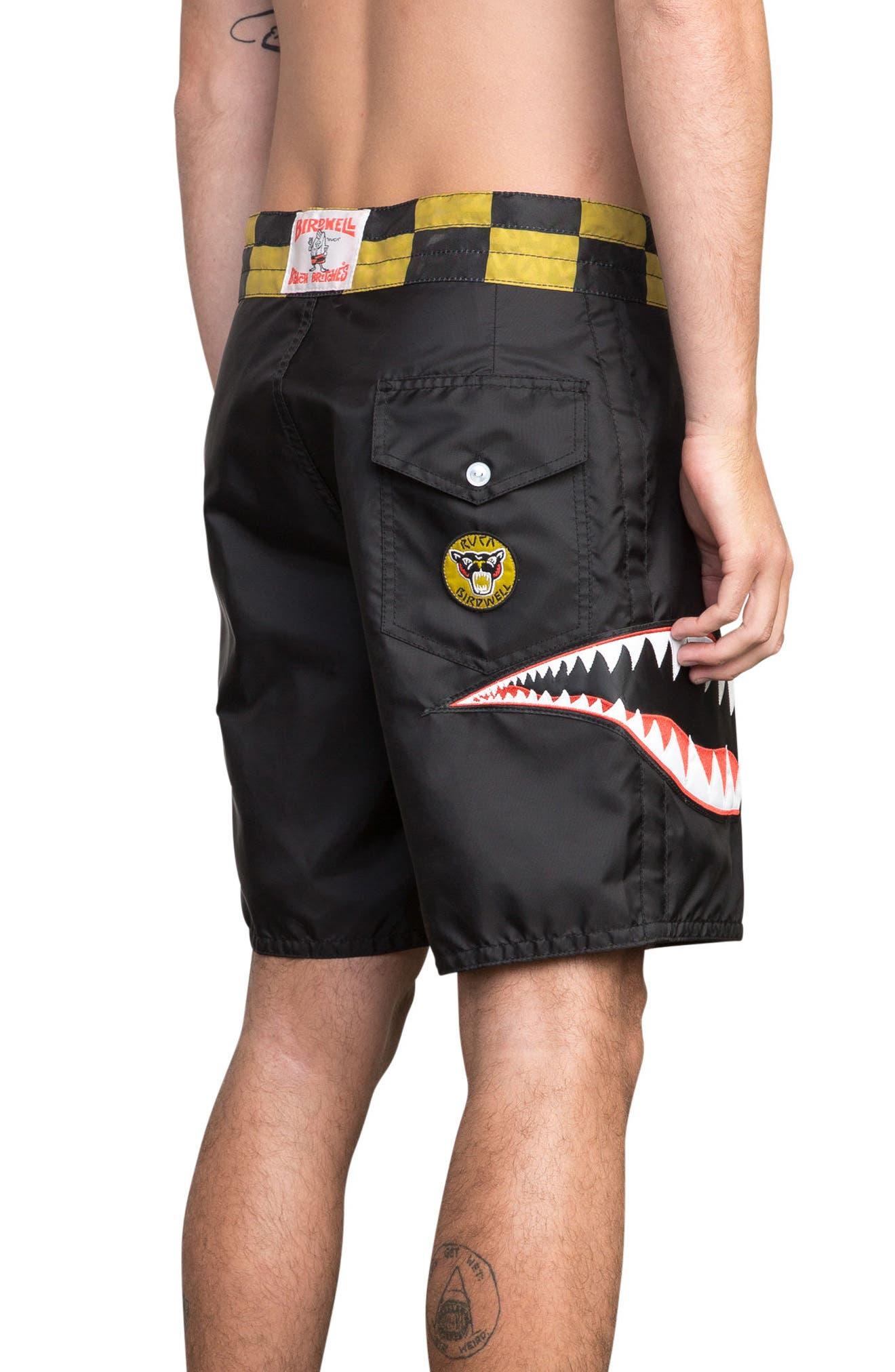 x Birdwell Squadron Board Shorts,                             Alternate thumbnail 4, color,                             Black