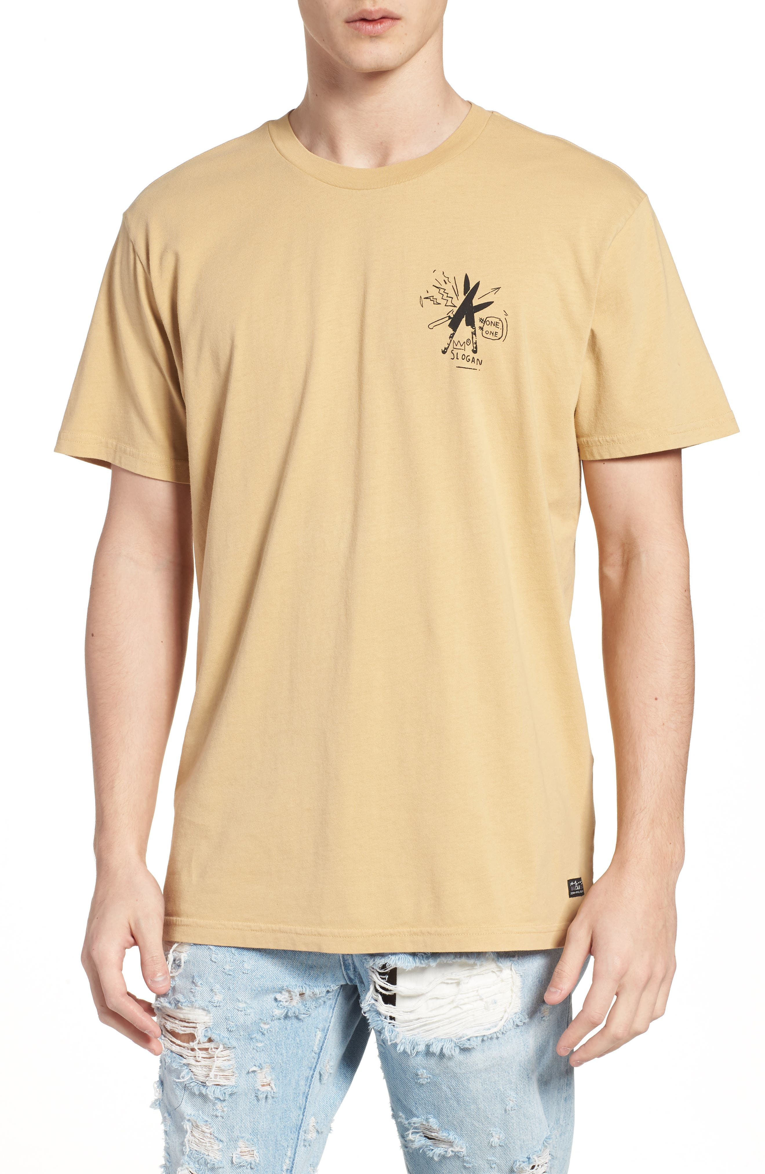 x Warhol Slogan T-Shirt,                         Main,                         color, Straw
