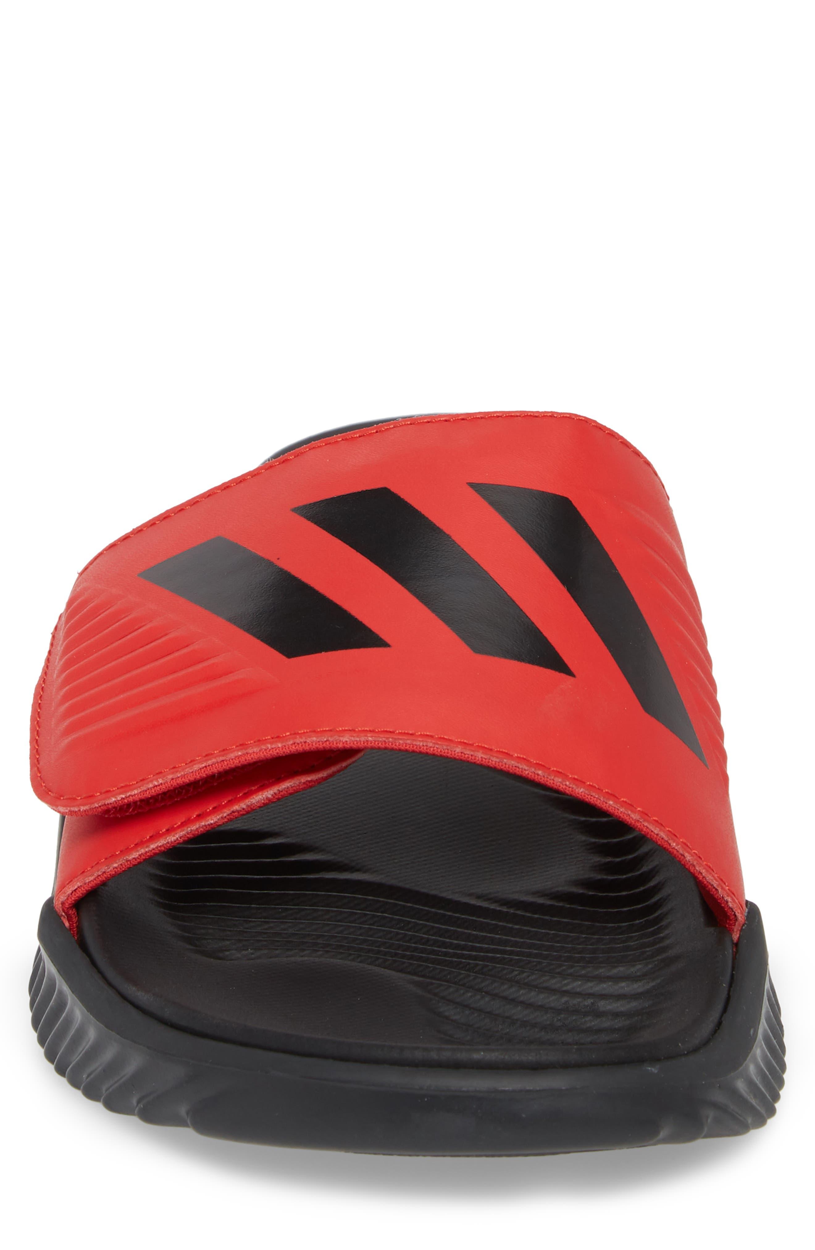 AlphaBounce Slide Sandal,                             Alternate thumbnail 4, color,                             Scarlet/ Black