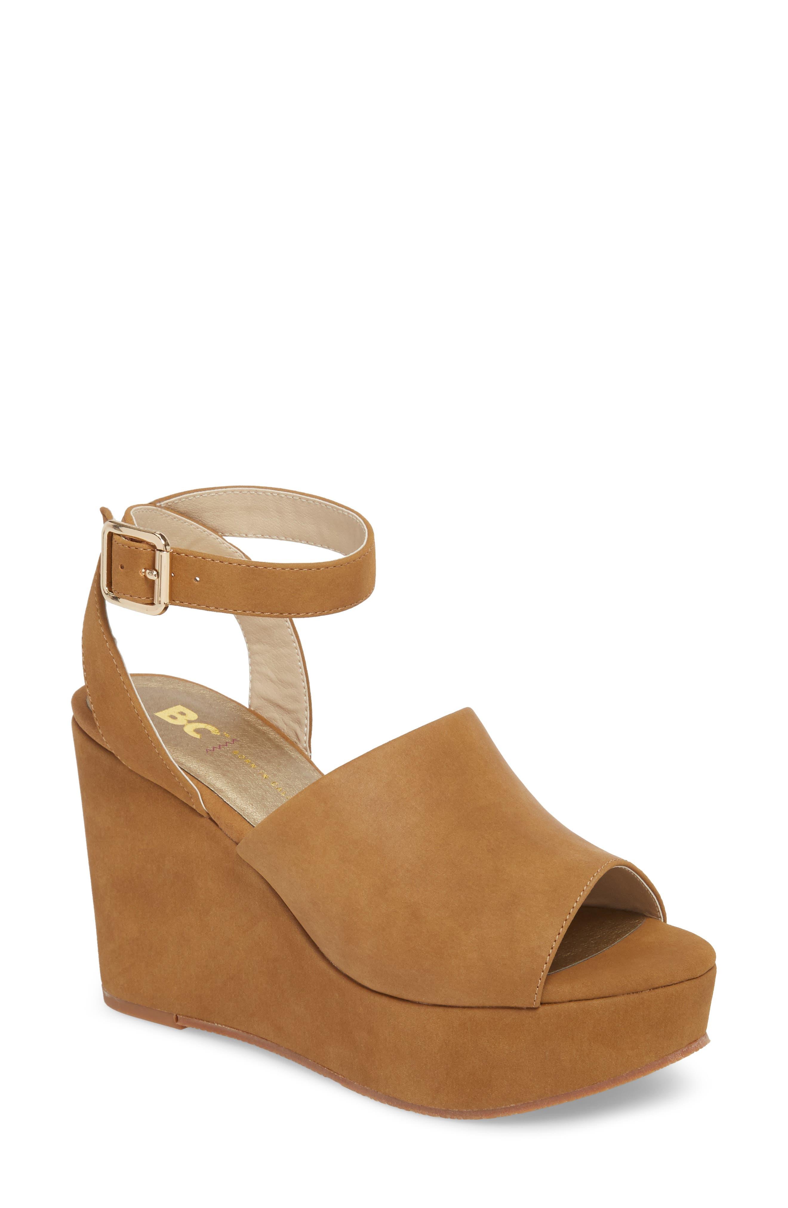 BC Footwear Admit One Platform Wedge Sandal (Women)