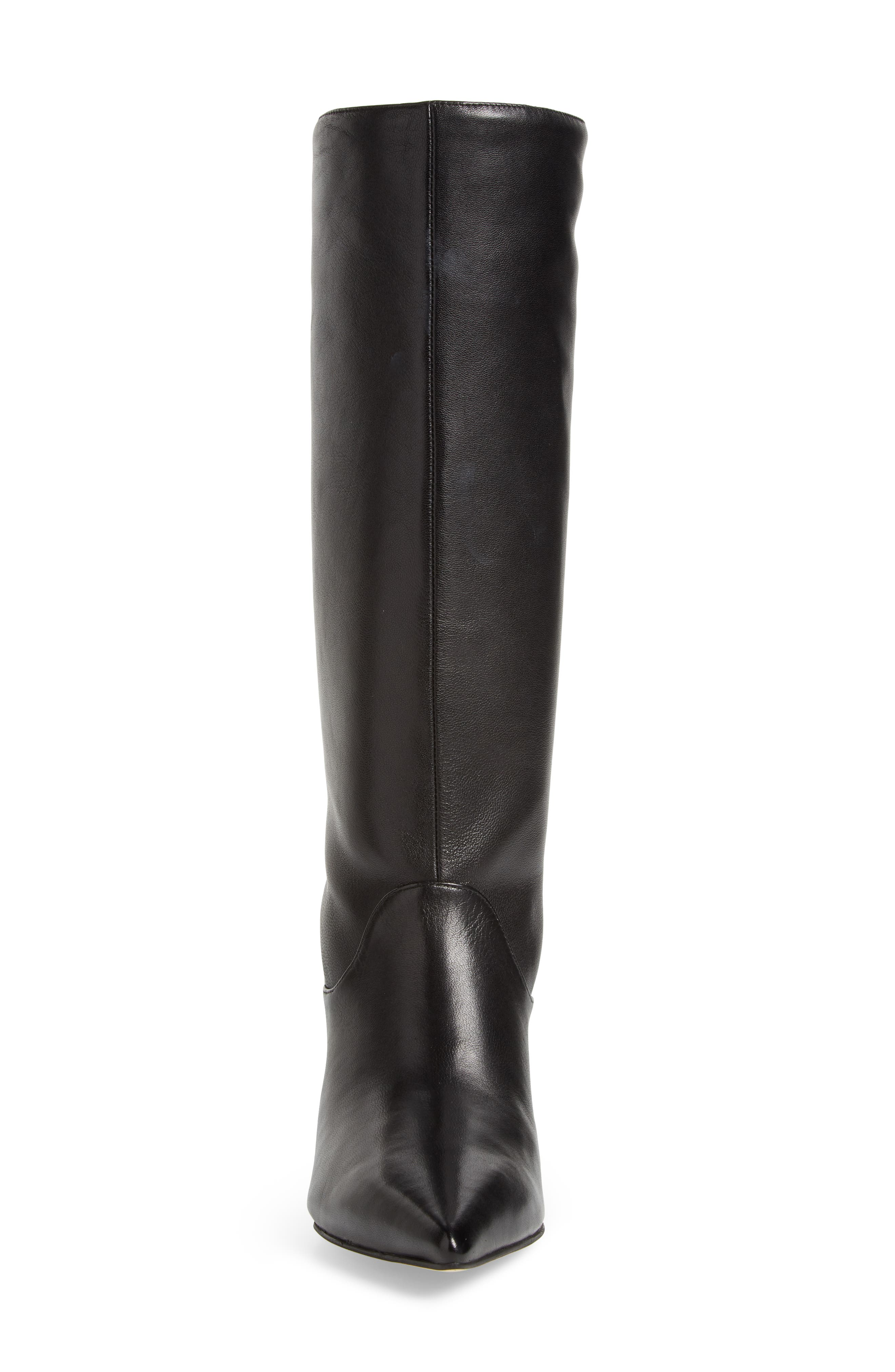 Dacey Boot,                             Alternate thumbnail 4, color,                             Black Leather