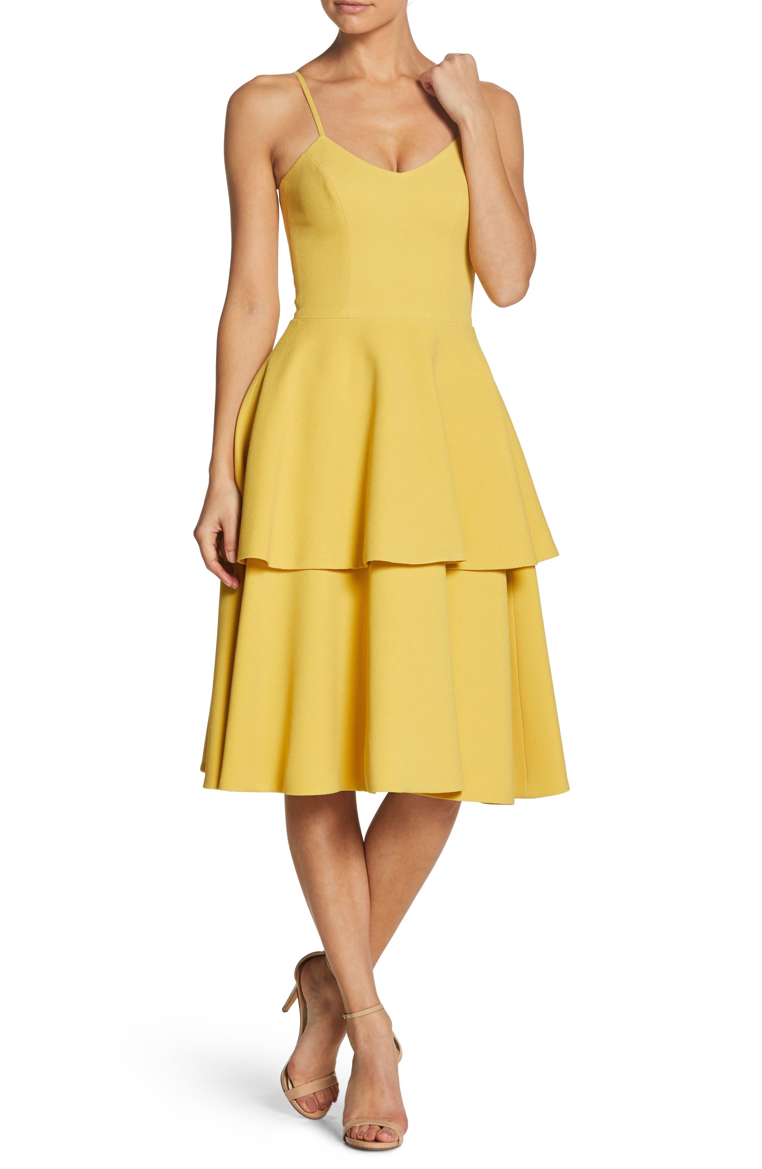 Dress the Population Yasmin Tiered Dress