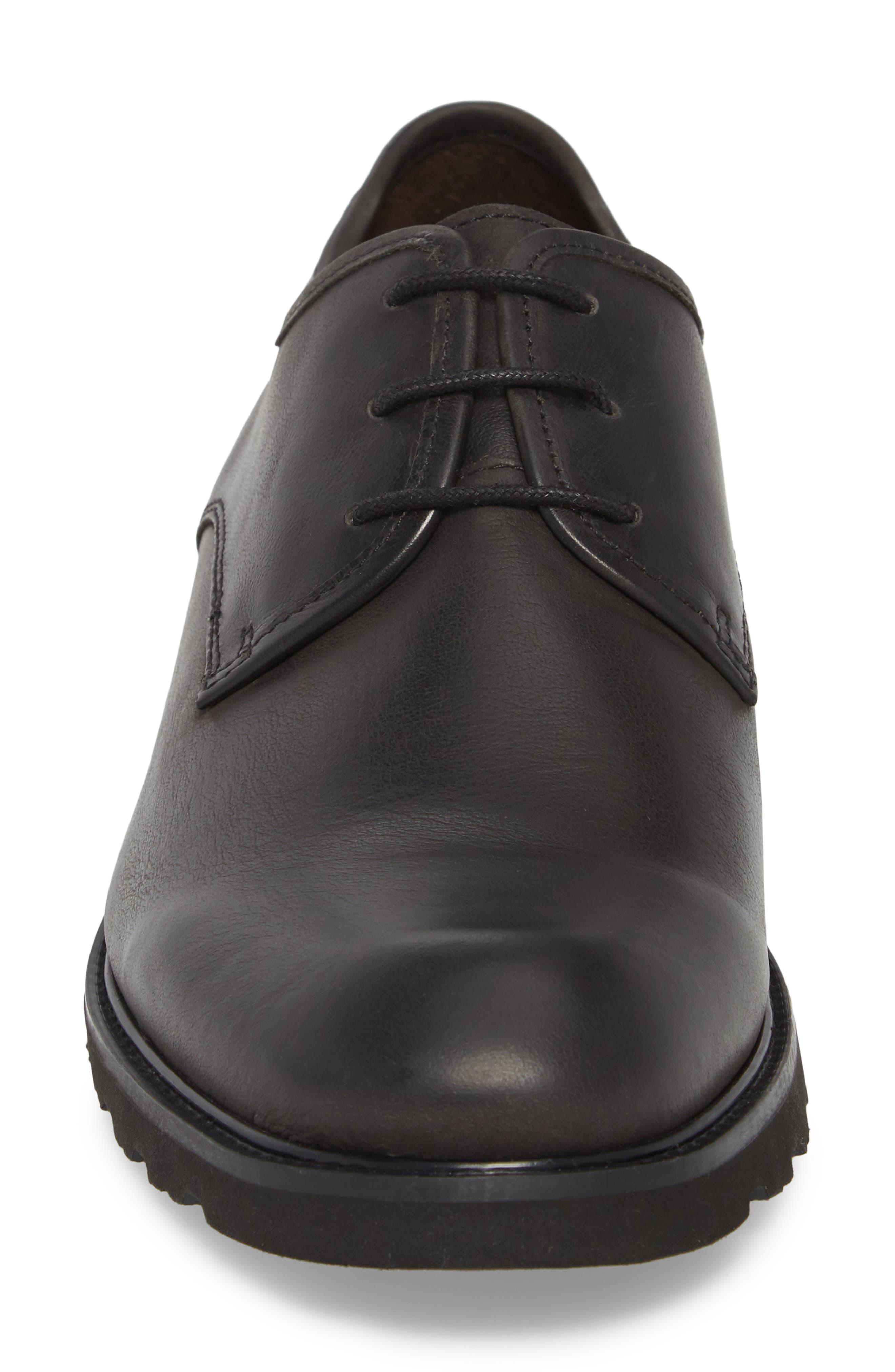 'Glasgow' Derby,                             Alternate thumbnail 4, color,                             Black Leather