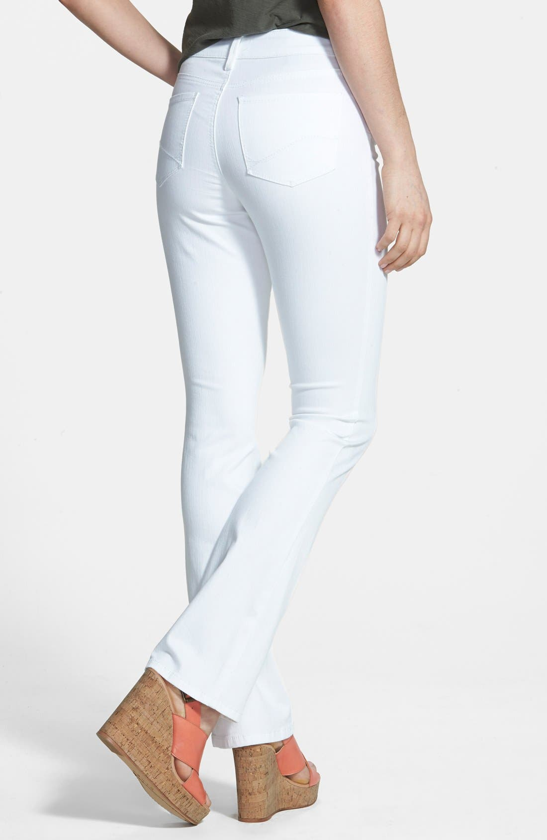 Alternate Image 2  - NYDJ 'Billie' Stretch Mini Bootcut Jeans (Optic White) (Regular & Petite)