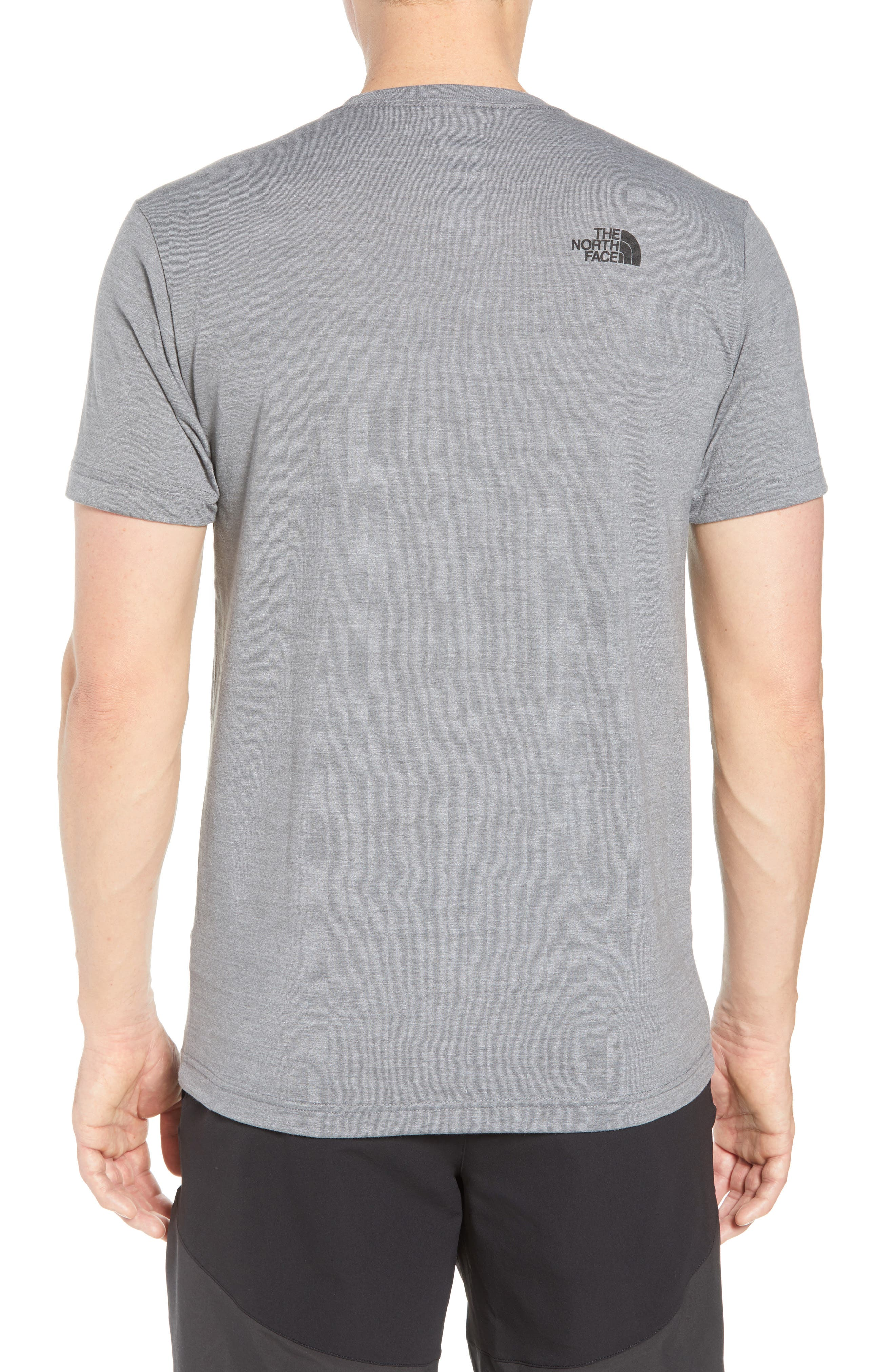 Americana Crewneck T-Shirt,                             Alternate thumbnail 2, color,                             Tnf Medium Grey Heather