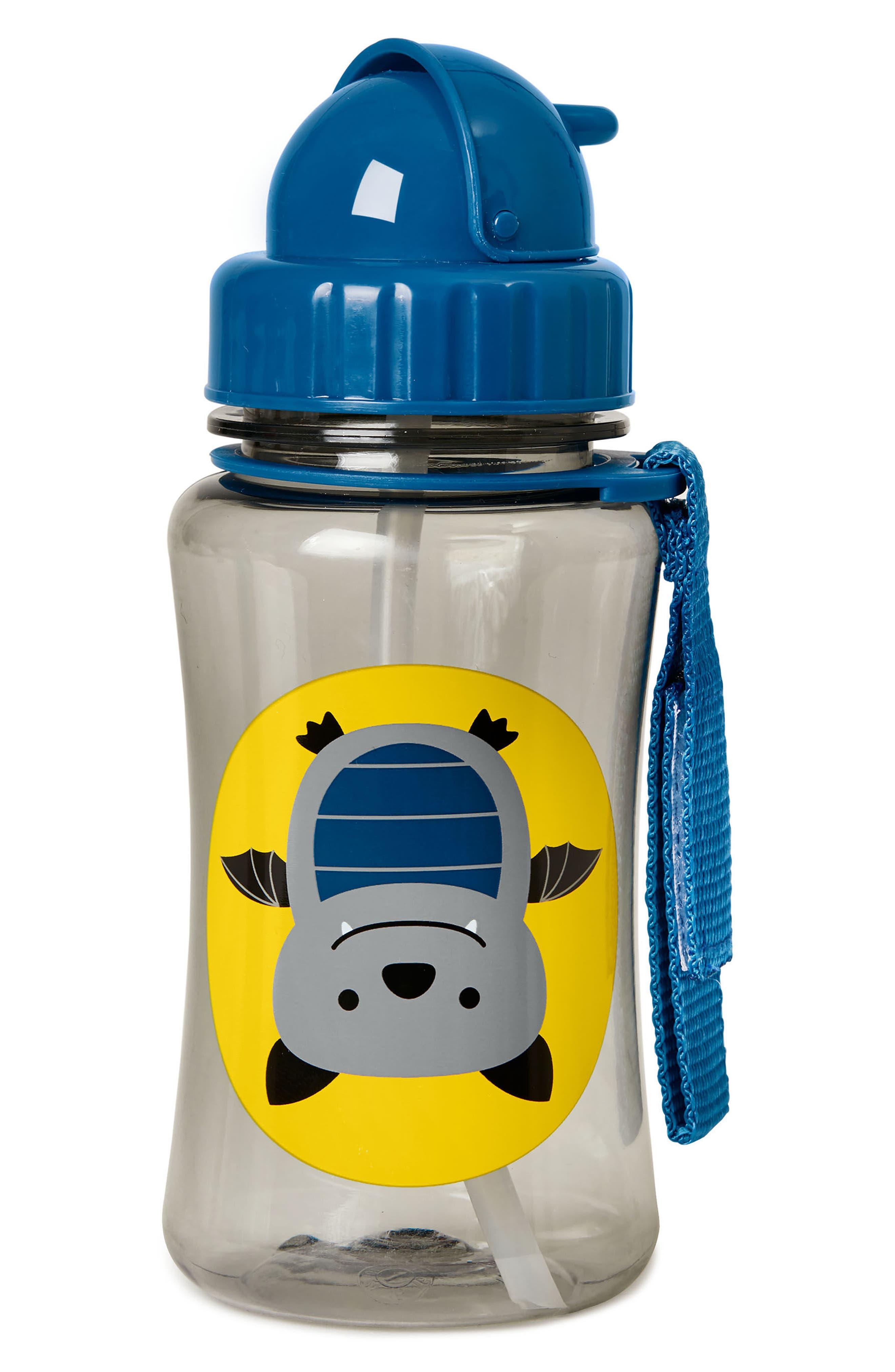 Zoo Bat Straw Bottle,                         Main,                         color, Navy Blue