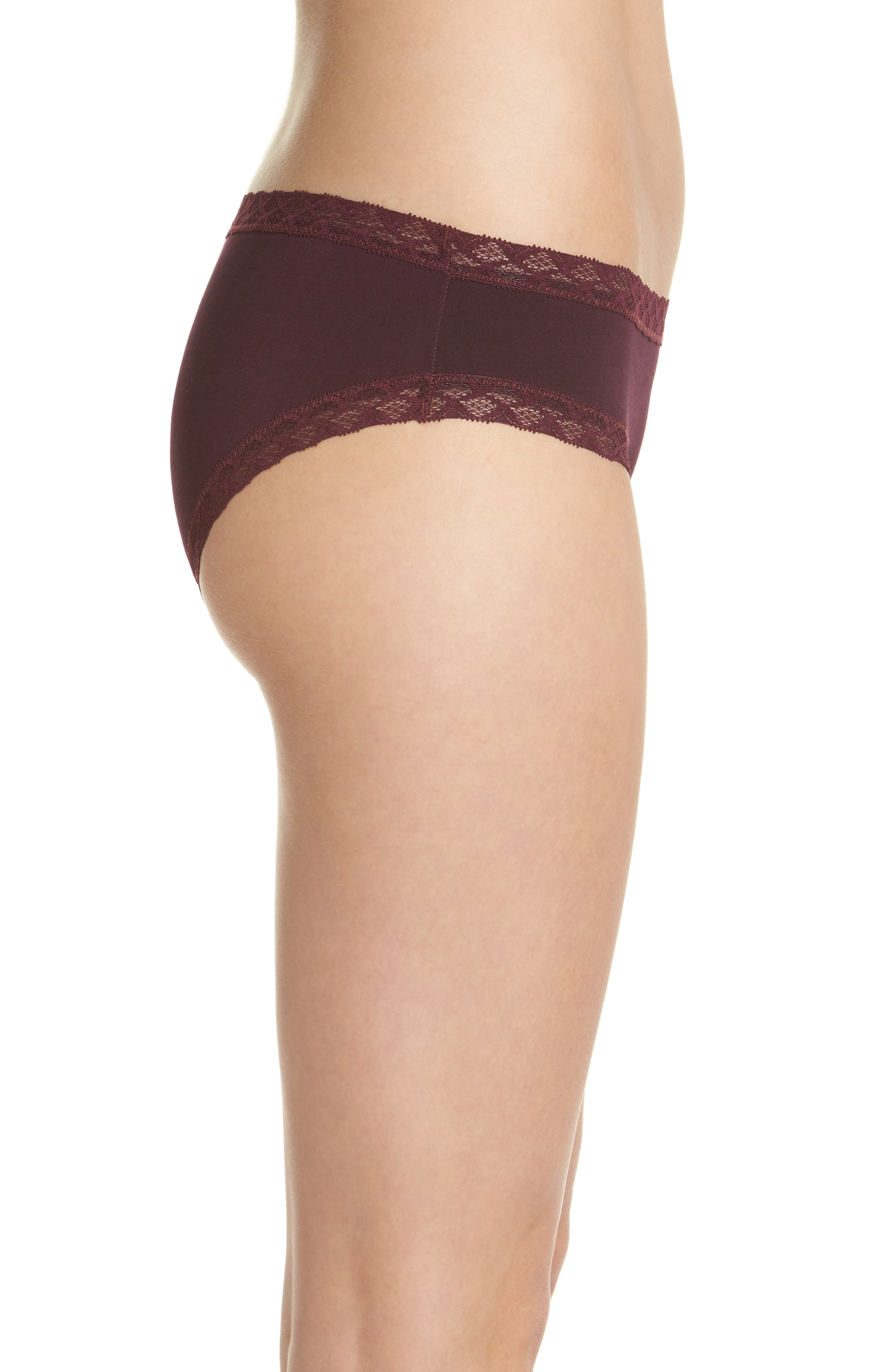 Bliss Cotton Girl Briefs,                             Alternate thumbnail 3, color,                             Potent Purple