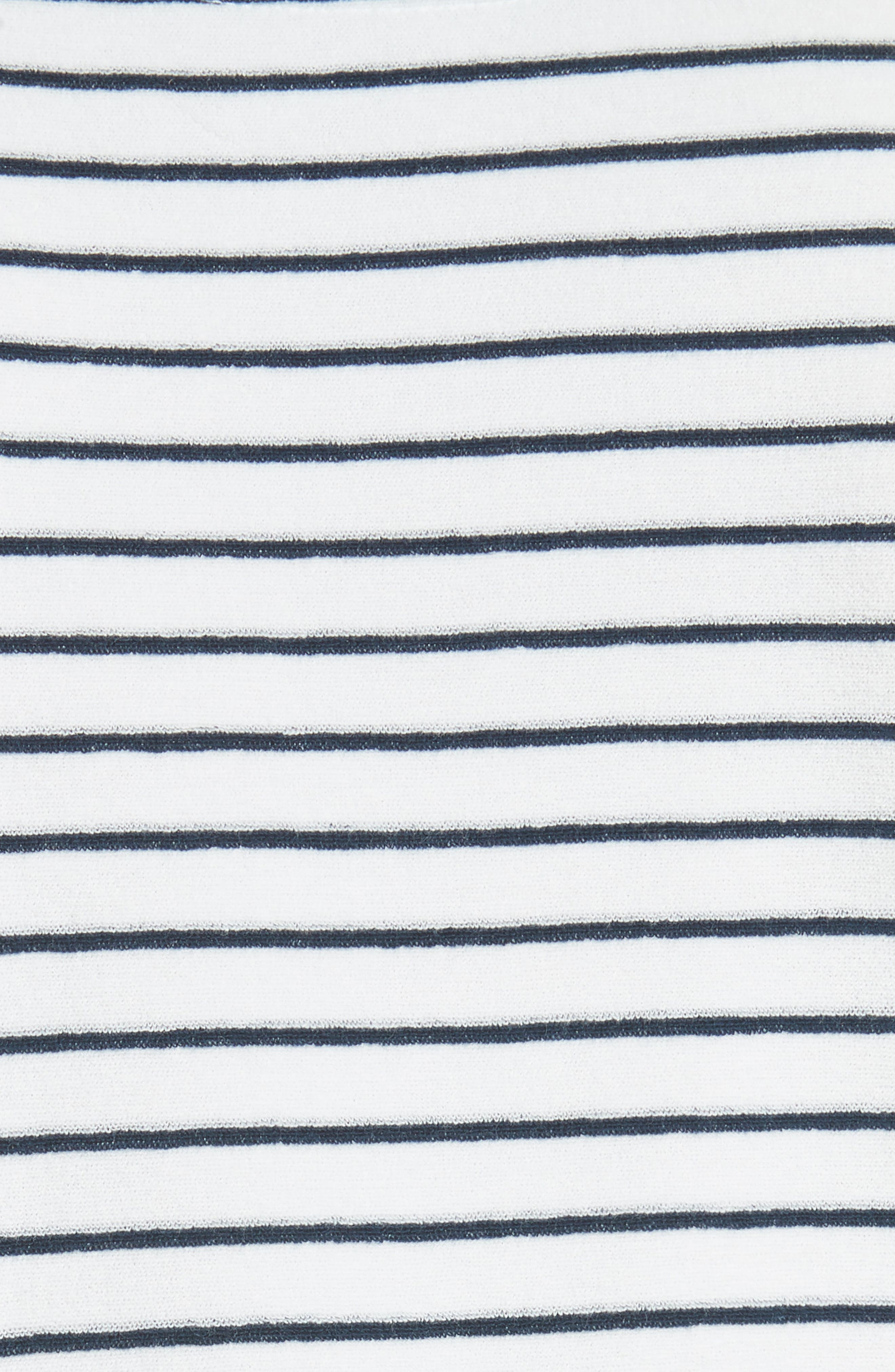 Stripe Terry T-Shirt,                             Alternate thumbnail 5, color,                             Squid Ink / Canvas
