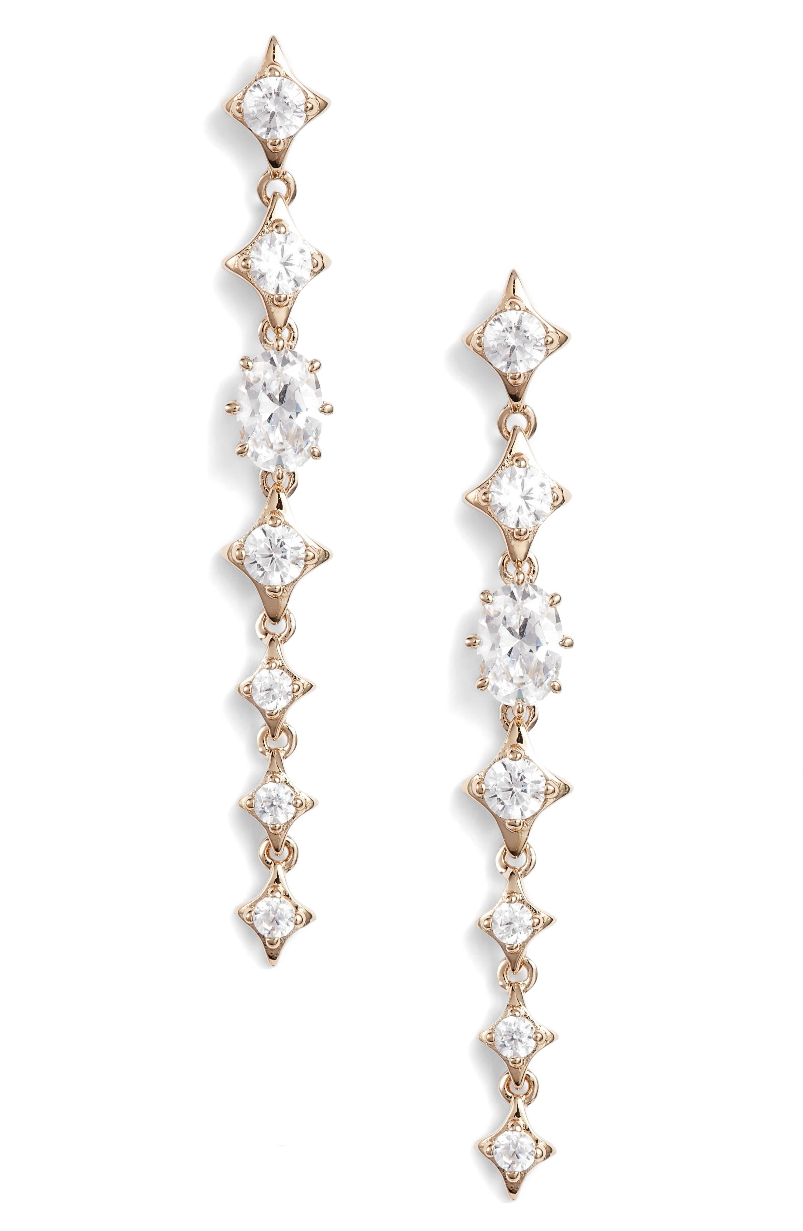 Nadri Boho Linear Drop Earrings