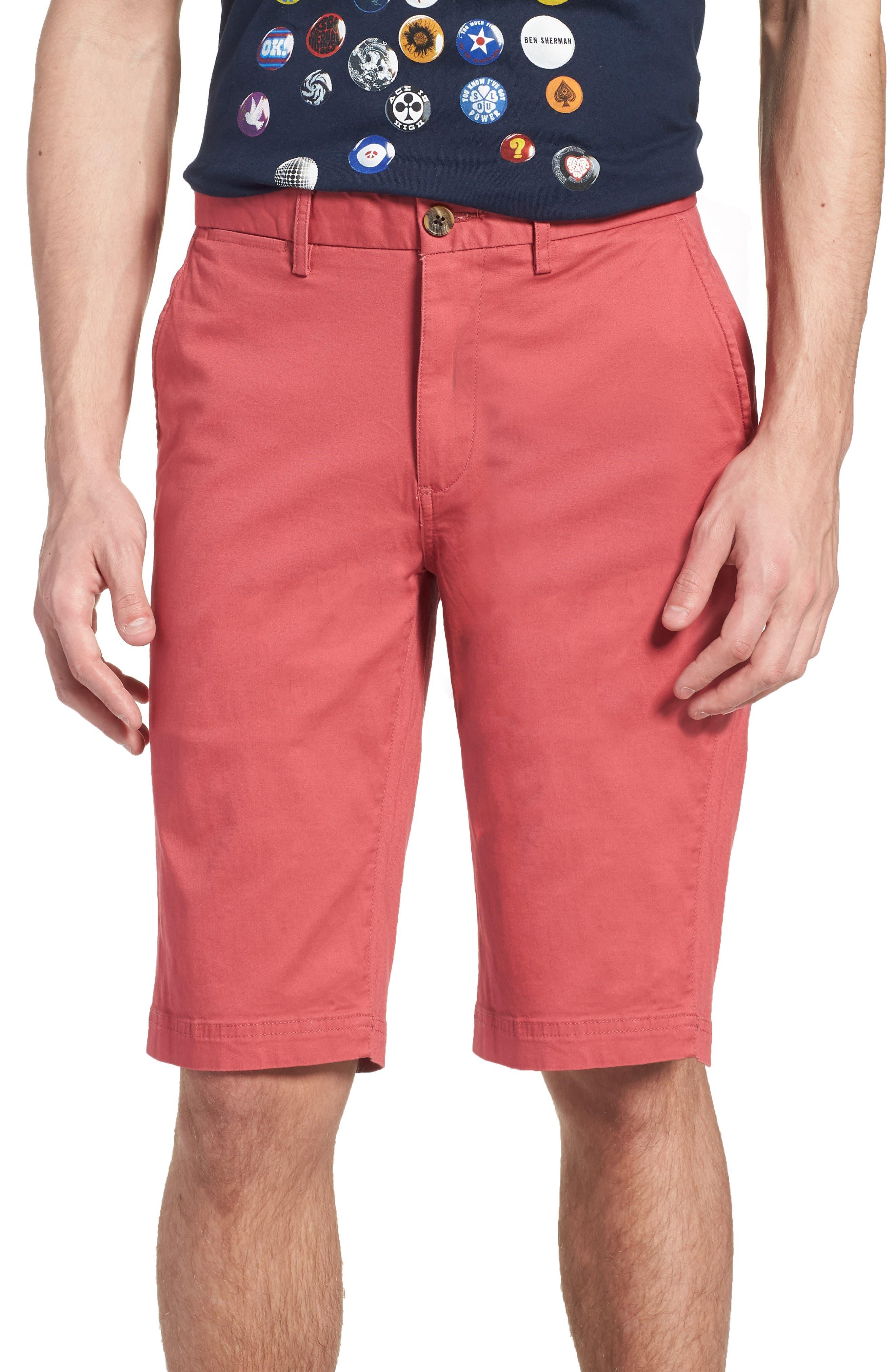 Alternate Image 1 Selected - Ben Sherman Slim Stretch Chino Shorts