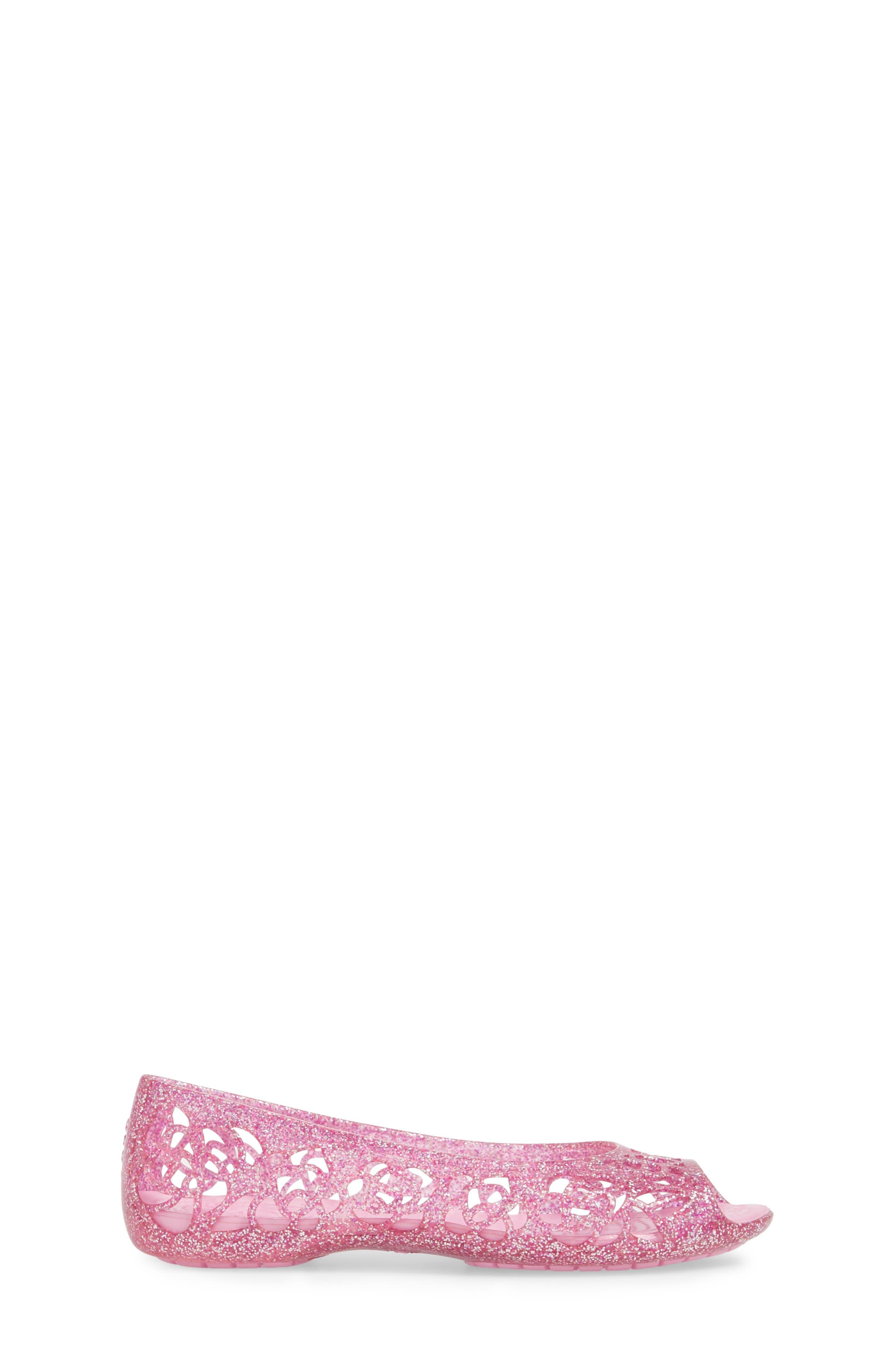 Alternate Image 3  - CROCS™ Isabella Glitter Flat (Little Kid & Big Kid)