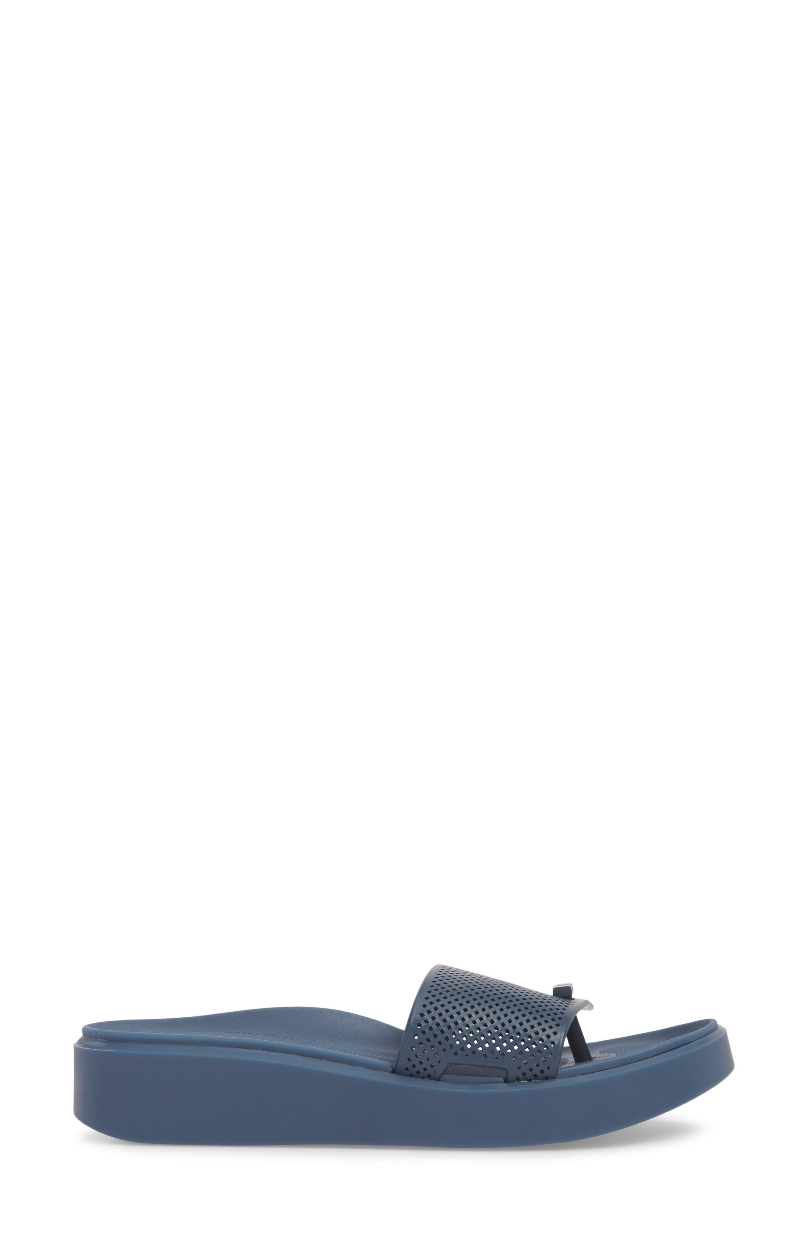 Bondi Jelly Slide Sandal,                             Alternate thumbnail 3, color,                             Navy
