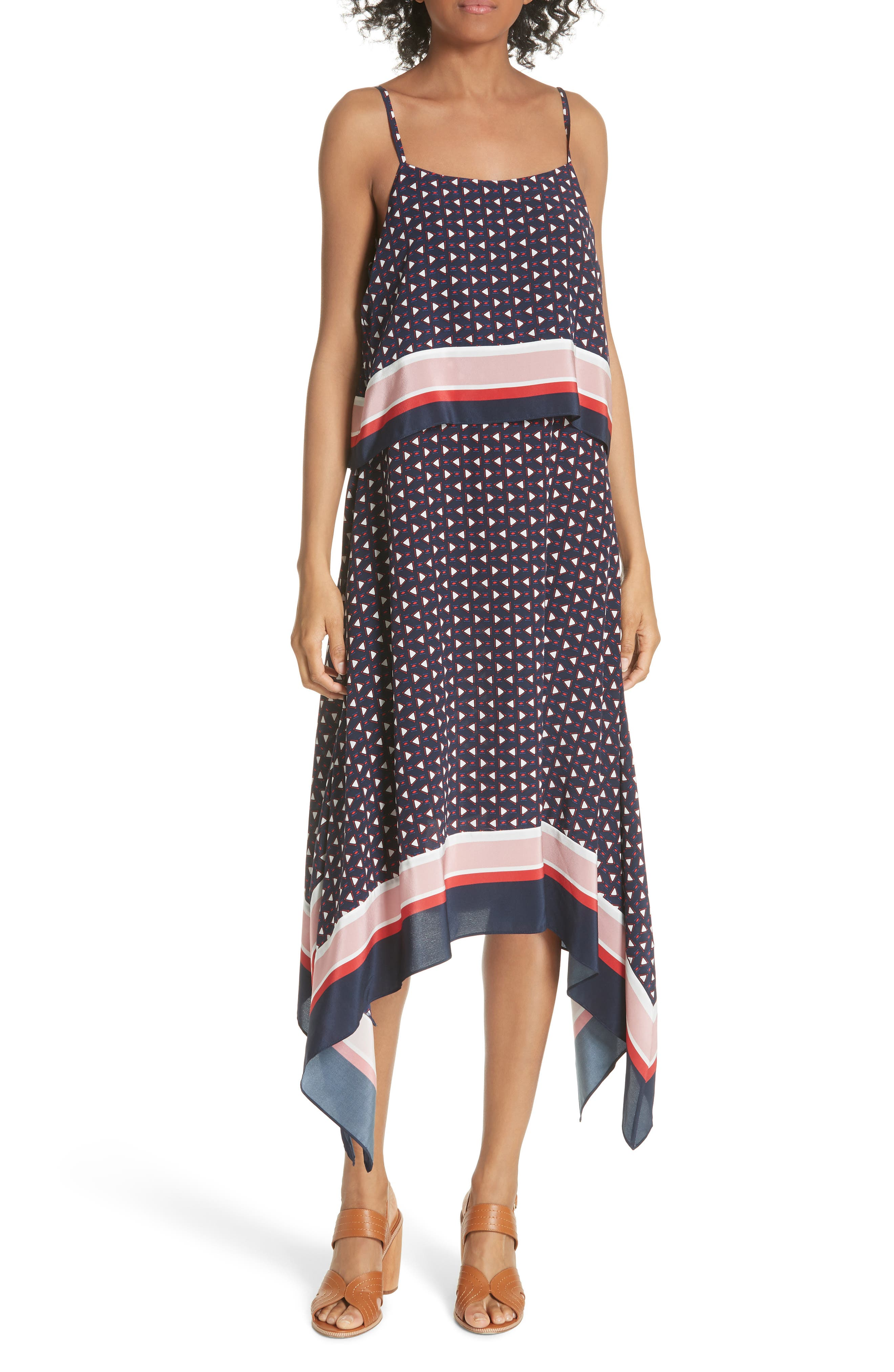 Seia Handkerchief Silk Dress by Joie