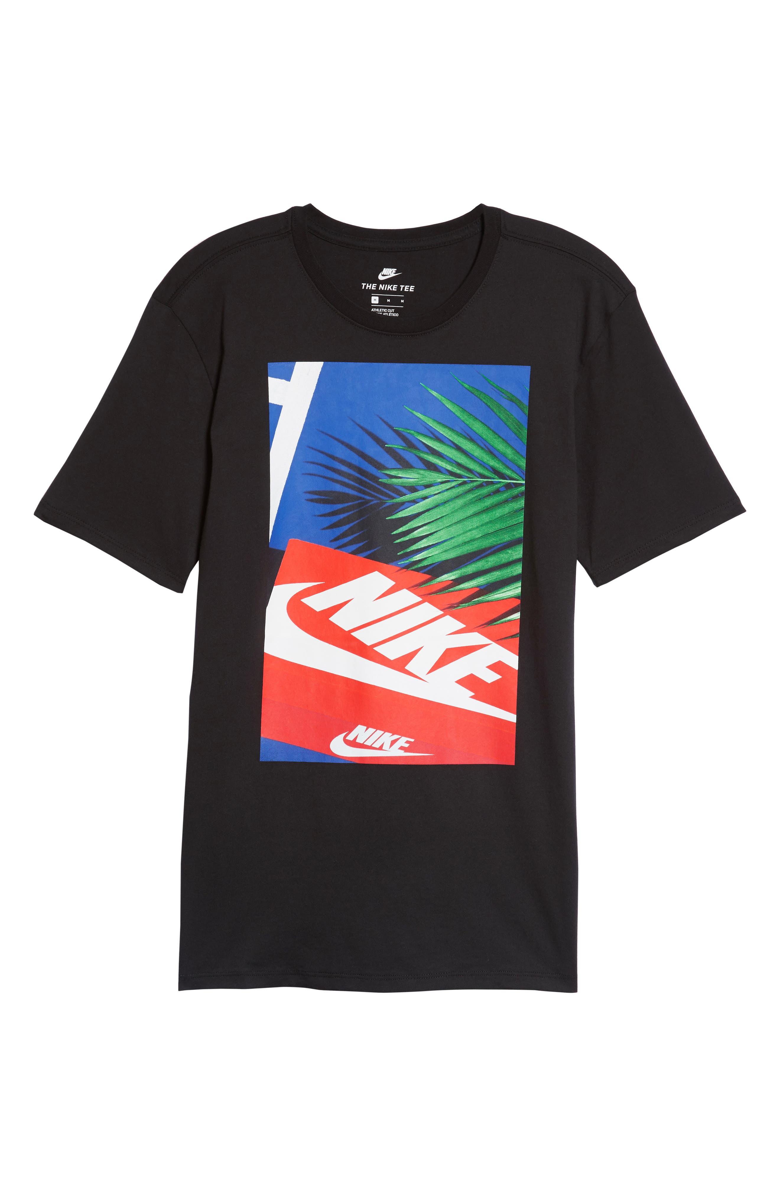 Sportswear Graphic T-Shirt,                             Alternate thumbnail 6, color,                             Black