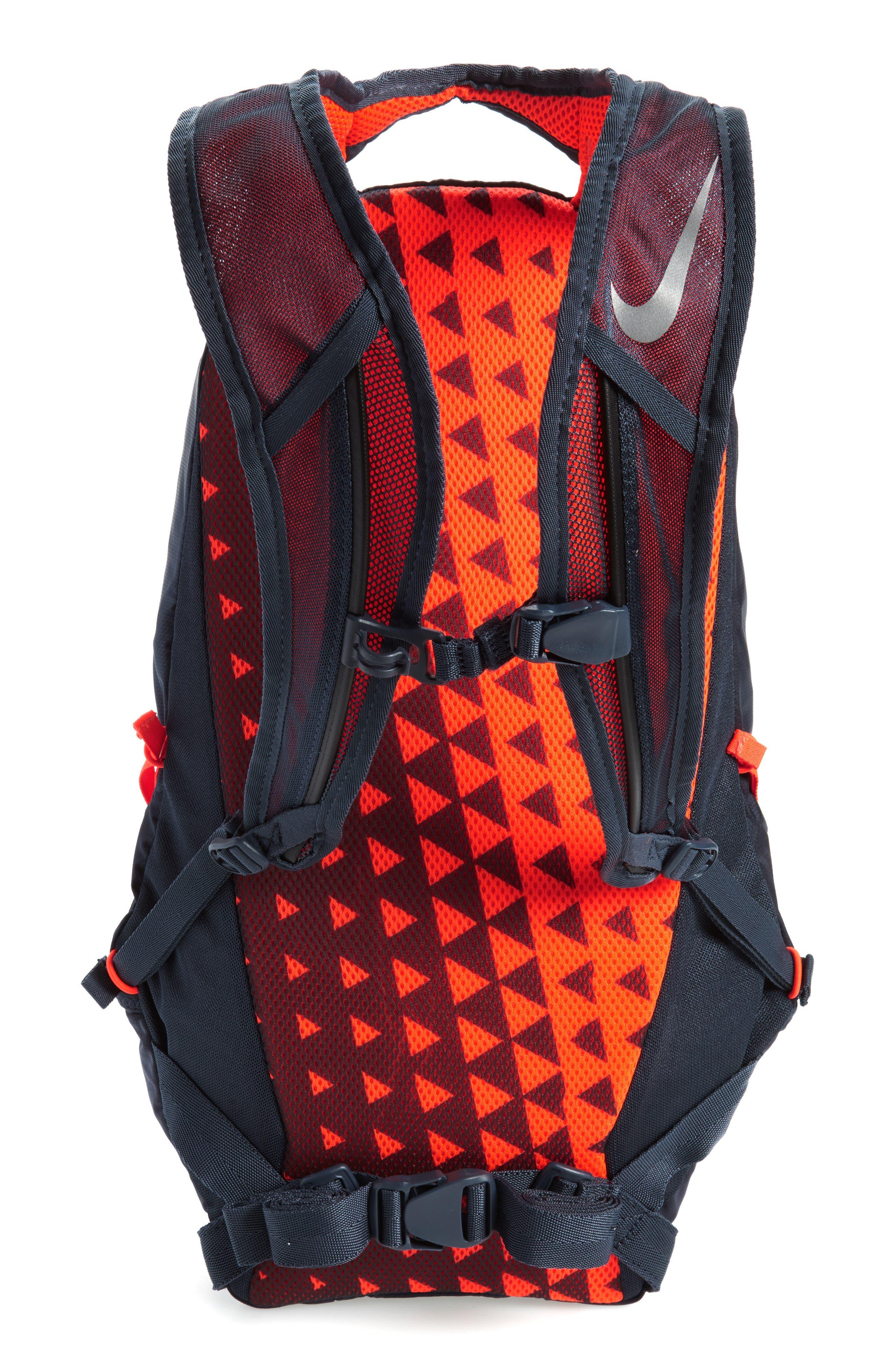 Run Commuter Backpack,                             Alternate thumbnail 3, color,                             Thunder Blue/ Total Crimson