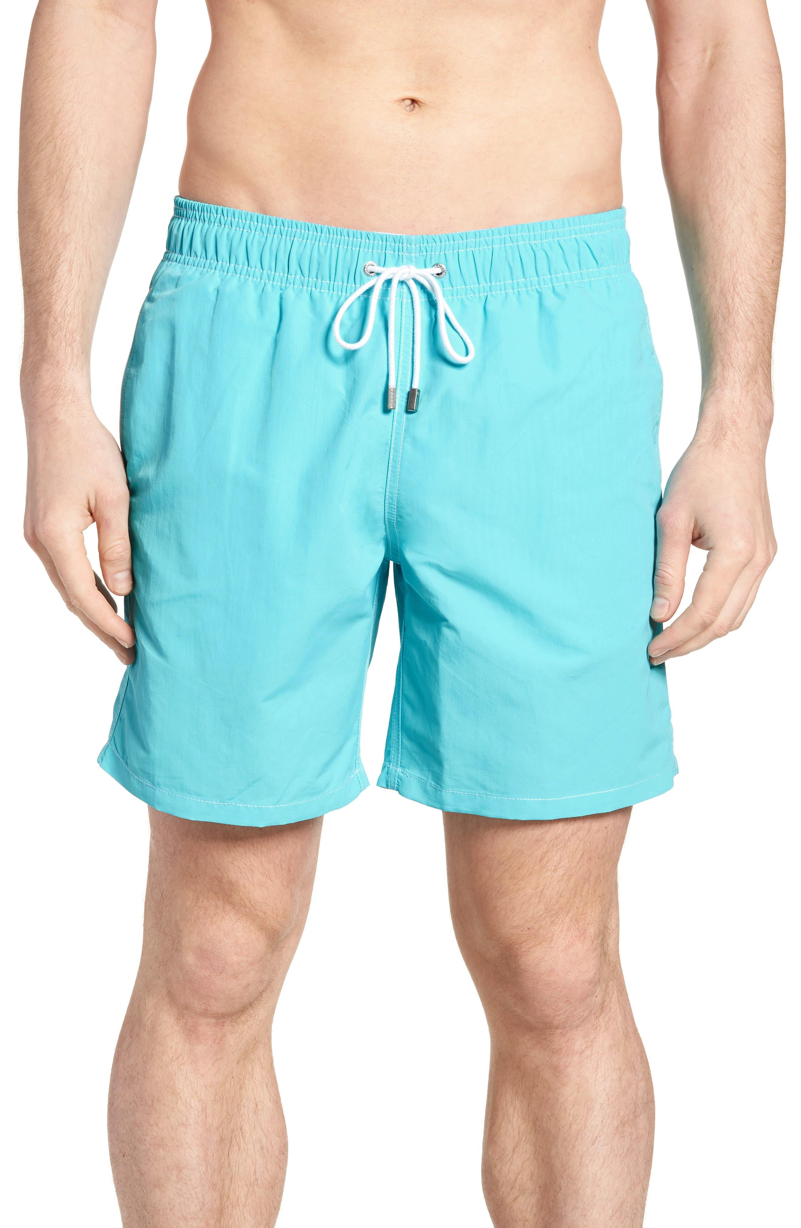 Swim Trunks,                         Main,                         color, Aqua