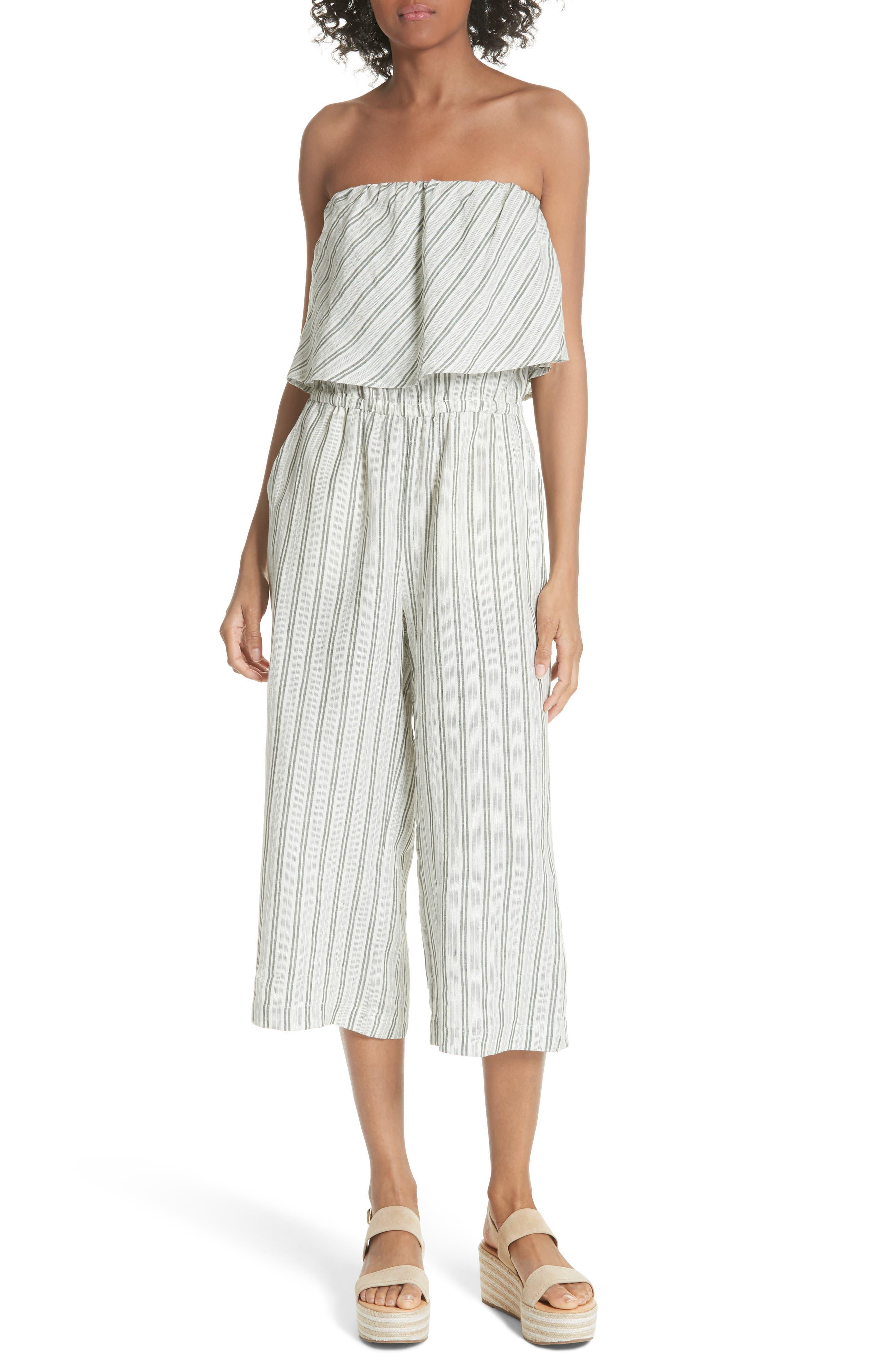 Joie Brogan Stripe Linen Jumpsuit
