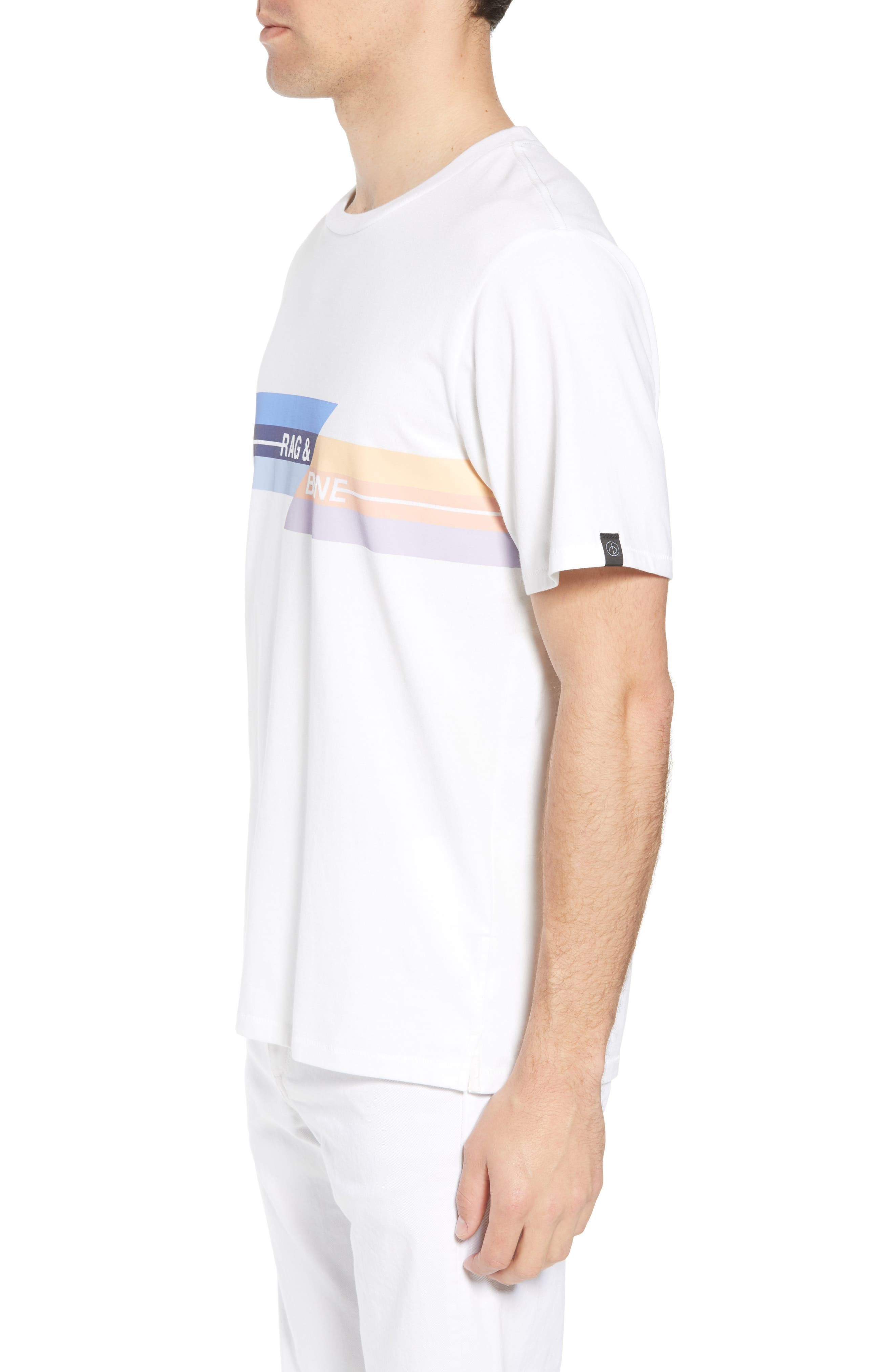Glitch Regular Fit T-Shirt,                             Alternate thumbnail 3, color,                             White