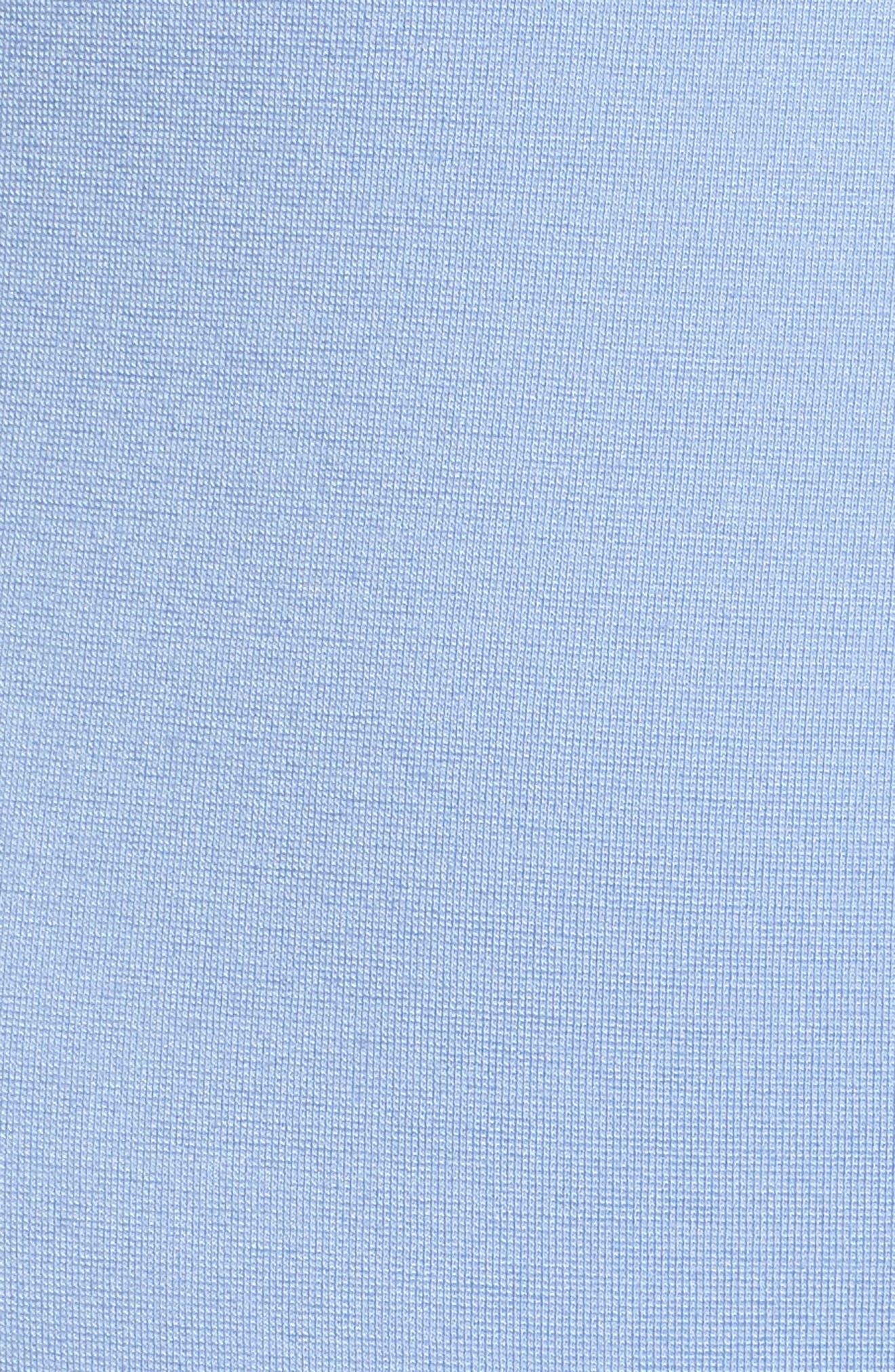 Ponte Pencil Skirt,                             Alternate thumbnail 5, color,                             Soft Blue