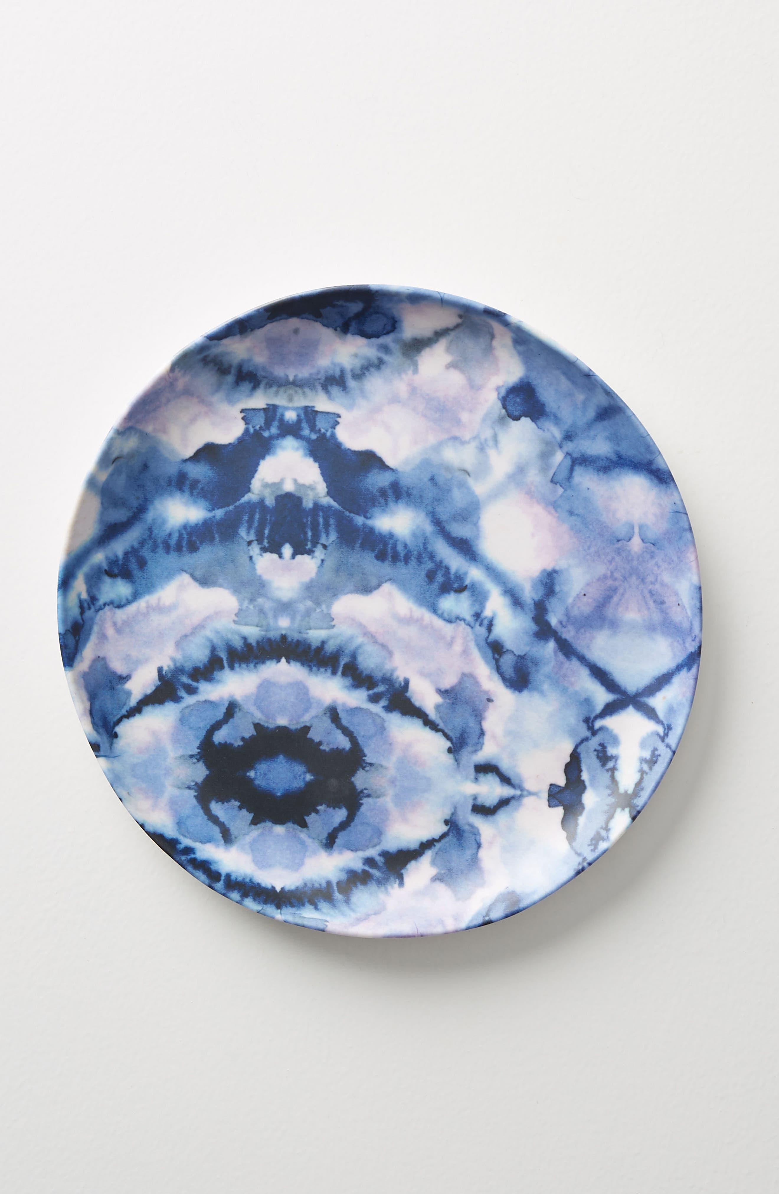 Mesa Melamine Plate,                             Main thumbnail 1, color,                             Blue Combo