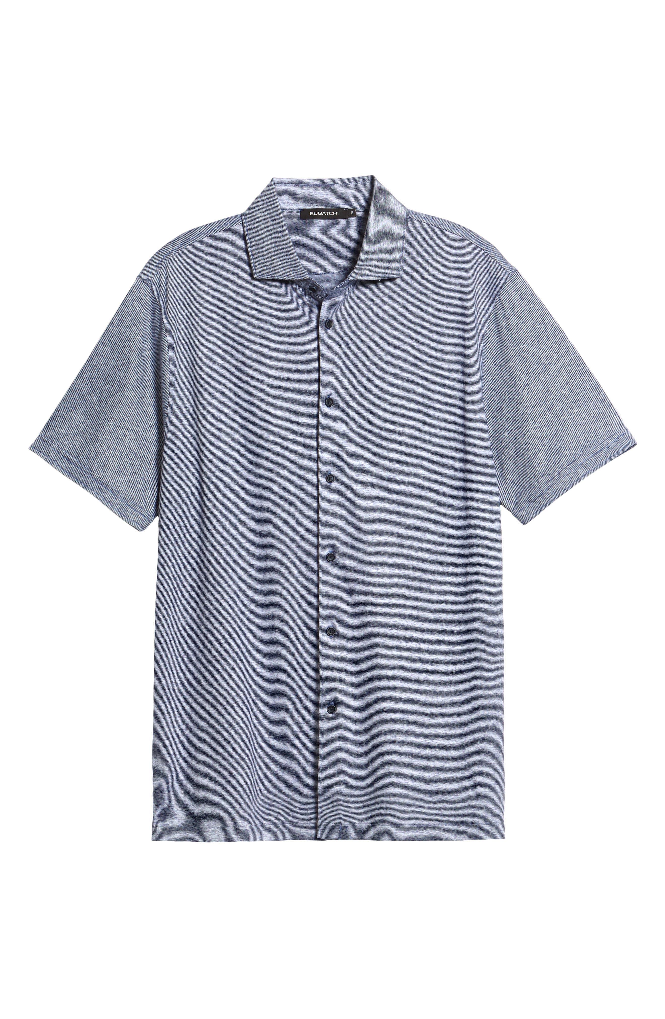 Knit Sport Shirt,                             Alternate thumbnail 6, color,                             Navy
