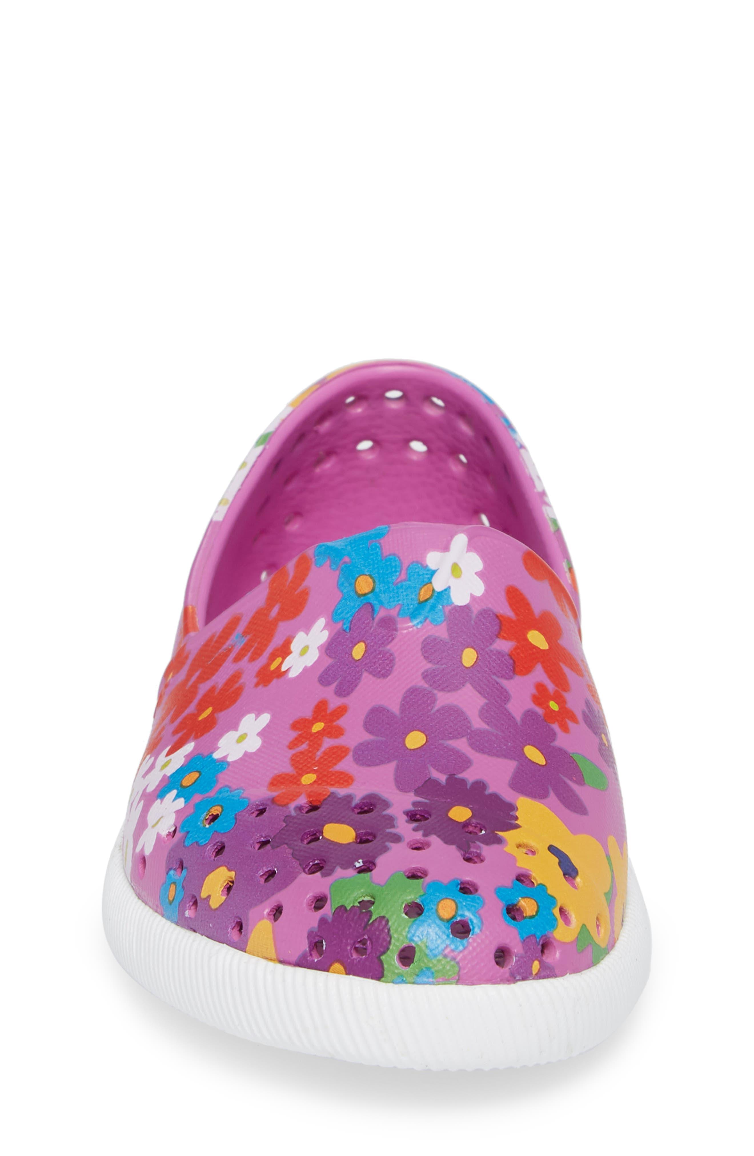 Verona Perforated Slip-On,                             Alternate thumbnail 4, color,                             Peace Purple/ White/ Daisy