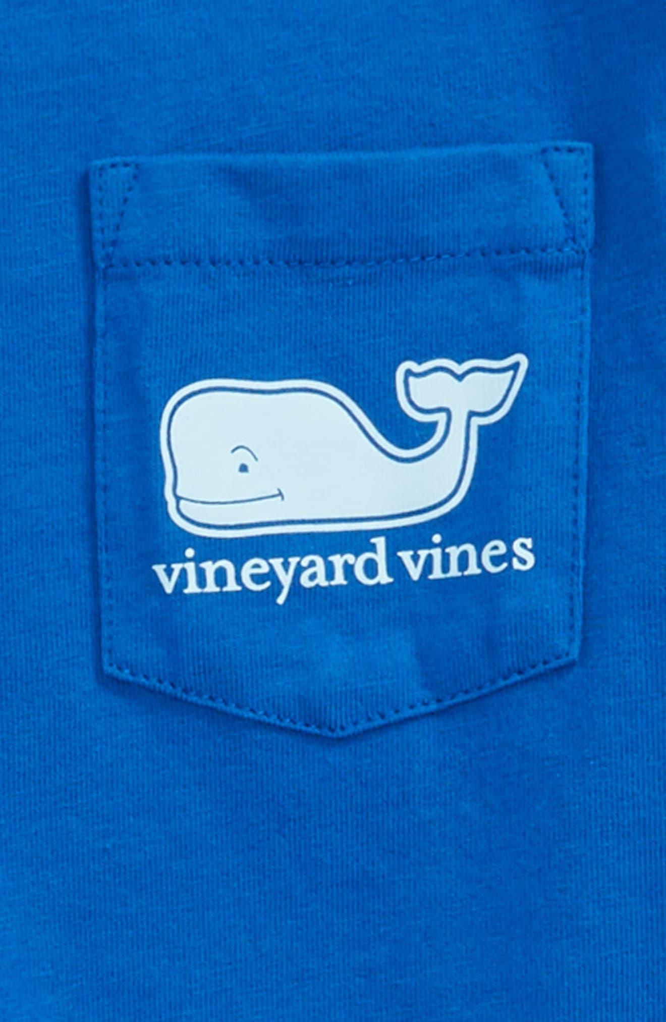 Whale Pocket Long Sleeve Tee,                             Alternate thumbnail 3, color,                             Yacht Blue