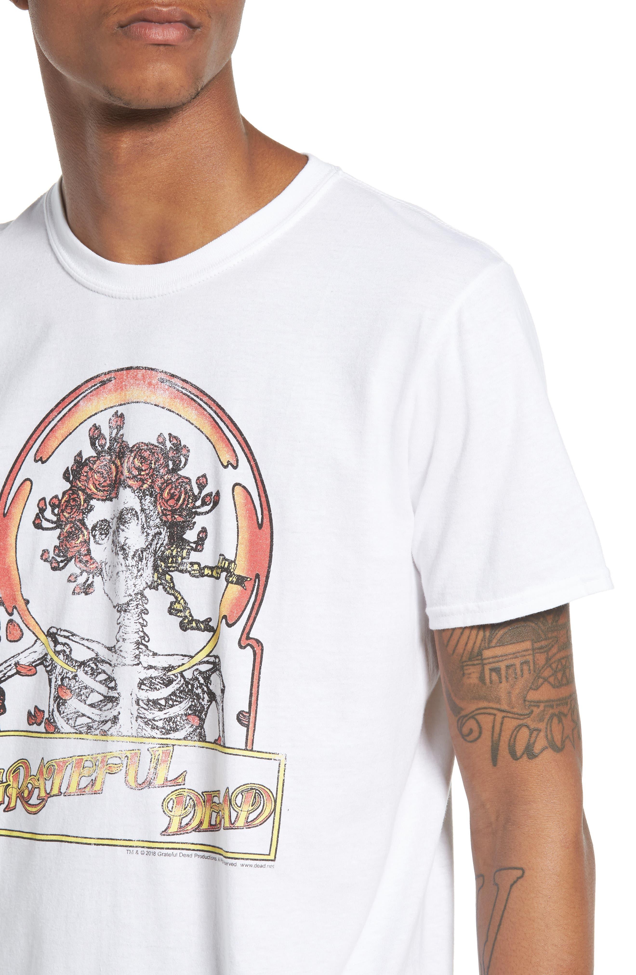 Grateful Dead T-Shirt,                             Alternate thumbnail 4, color,                             White Grateful Dead