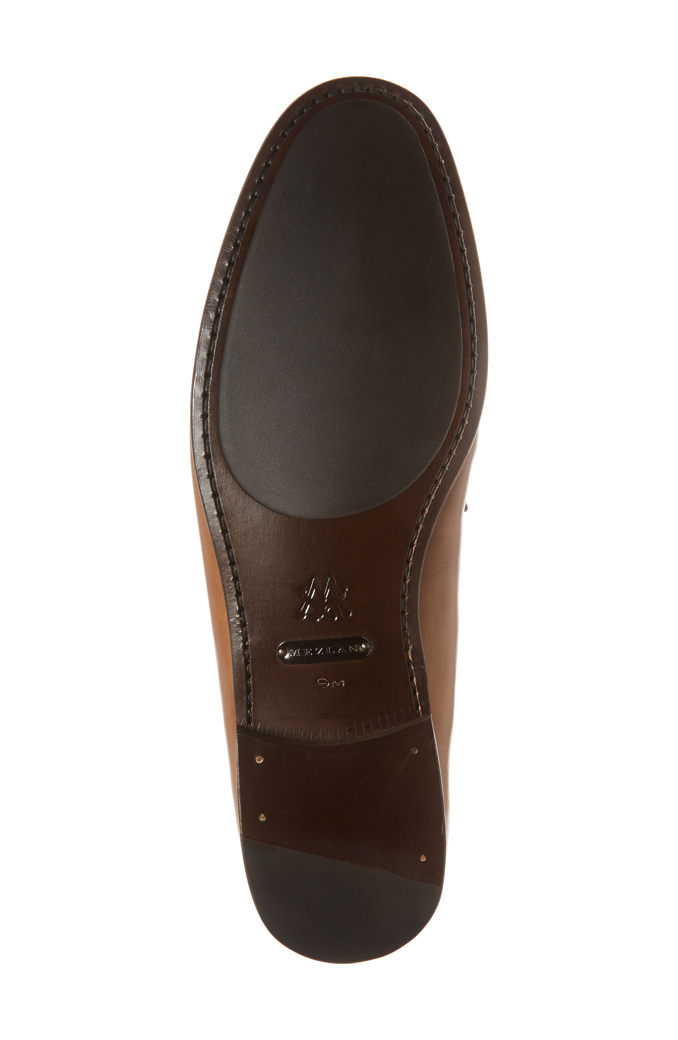 Jano Embossed Moc-Toe Loafer,                             Alternate thumbnail 6, color,                             Cognac Leather