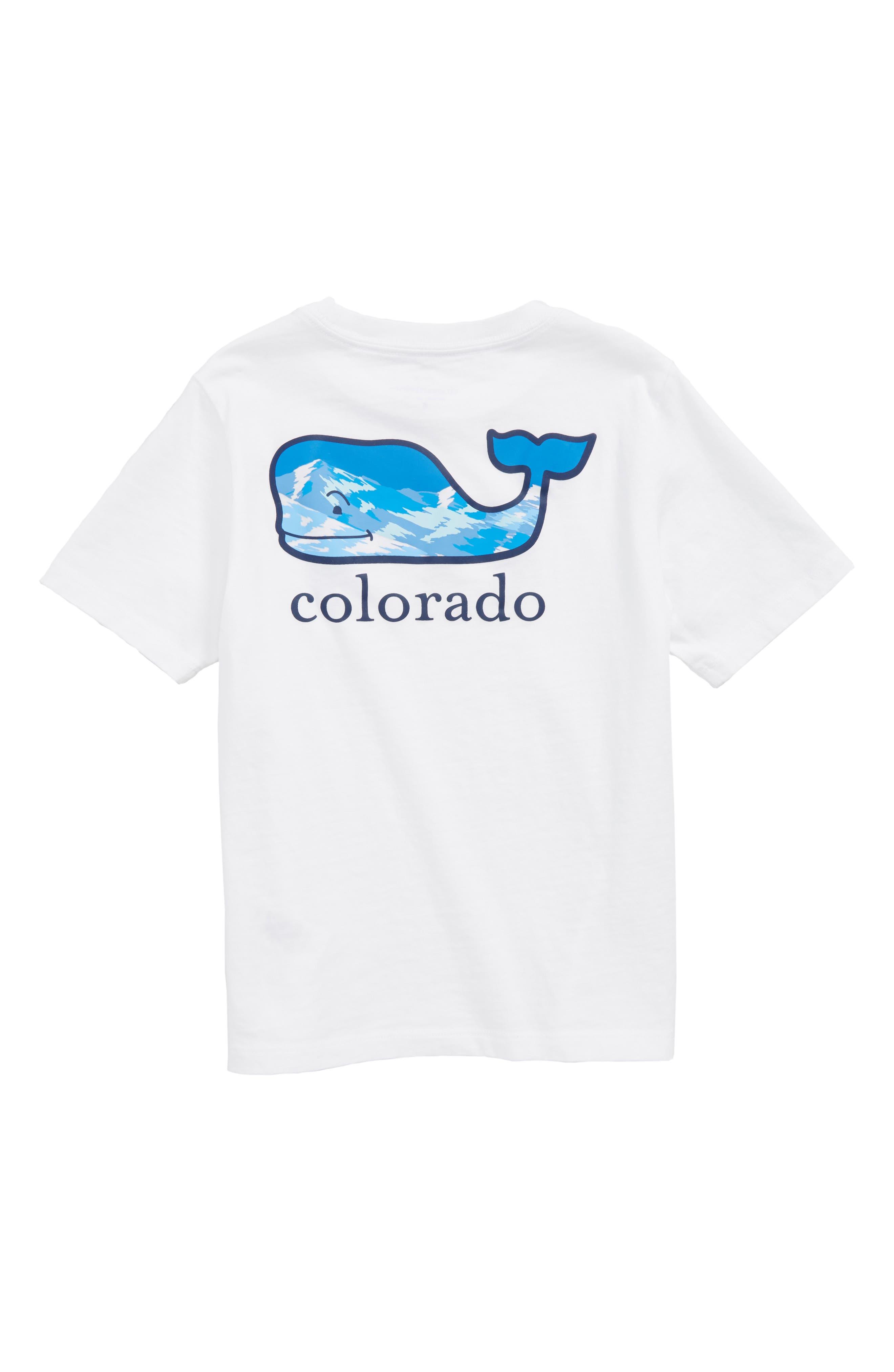 Colorado Whale Pocket T-Shirt,                             Alternate thumbnail 2, color,                             White Cap