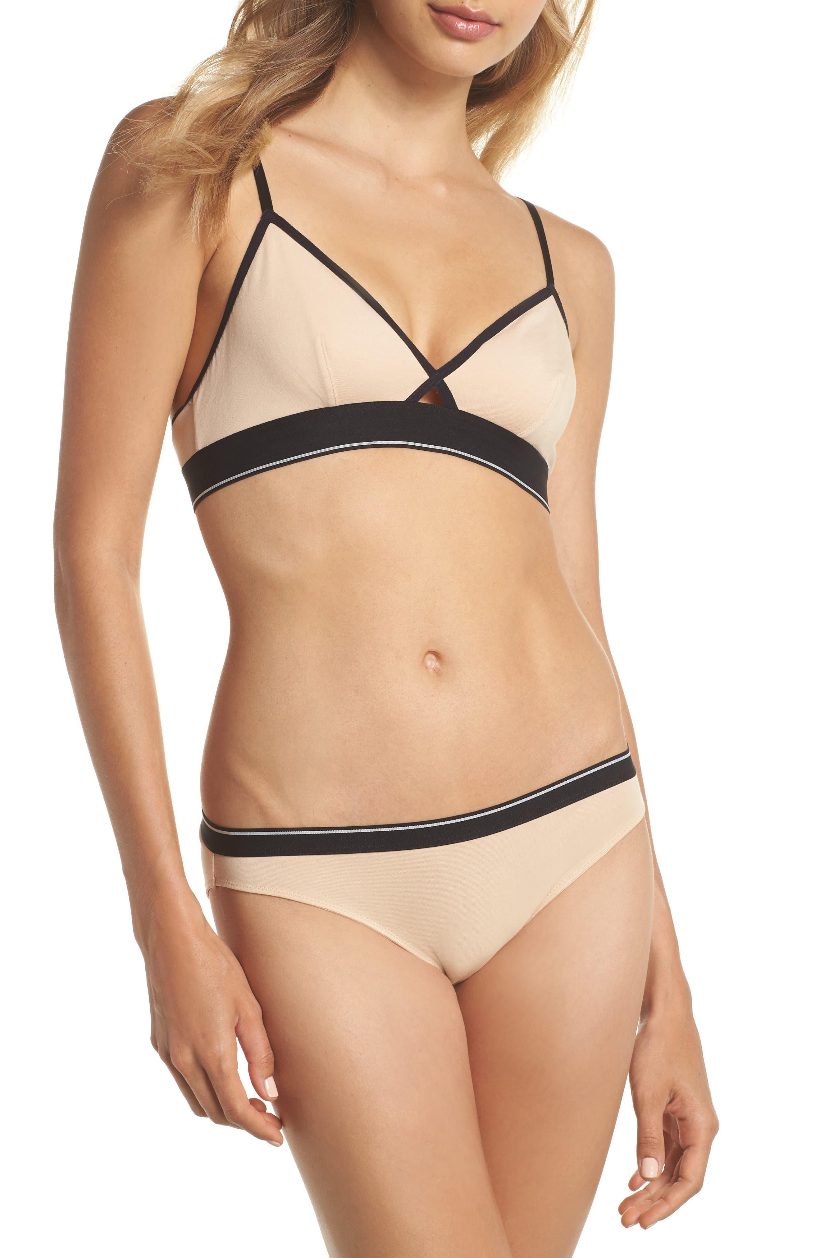Stripe Bikini,                             Alternate thumbnail 4, color,                             Tawny Sand