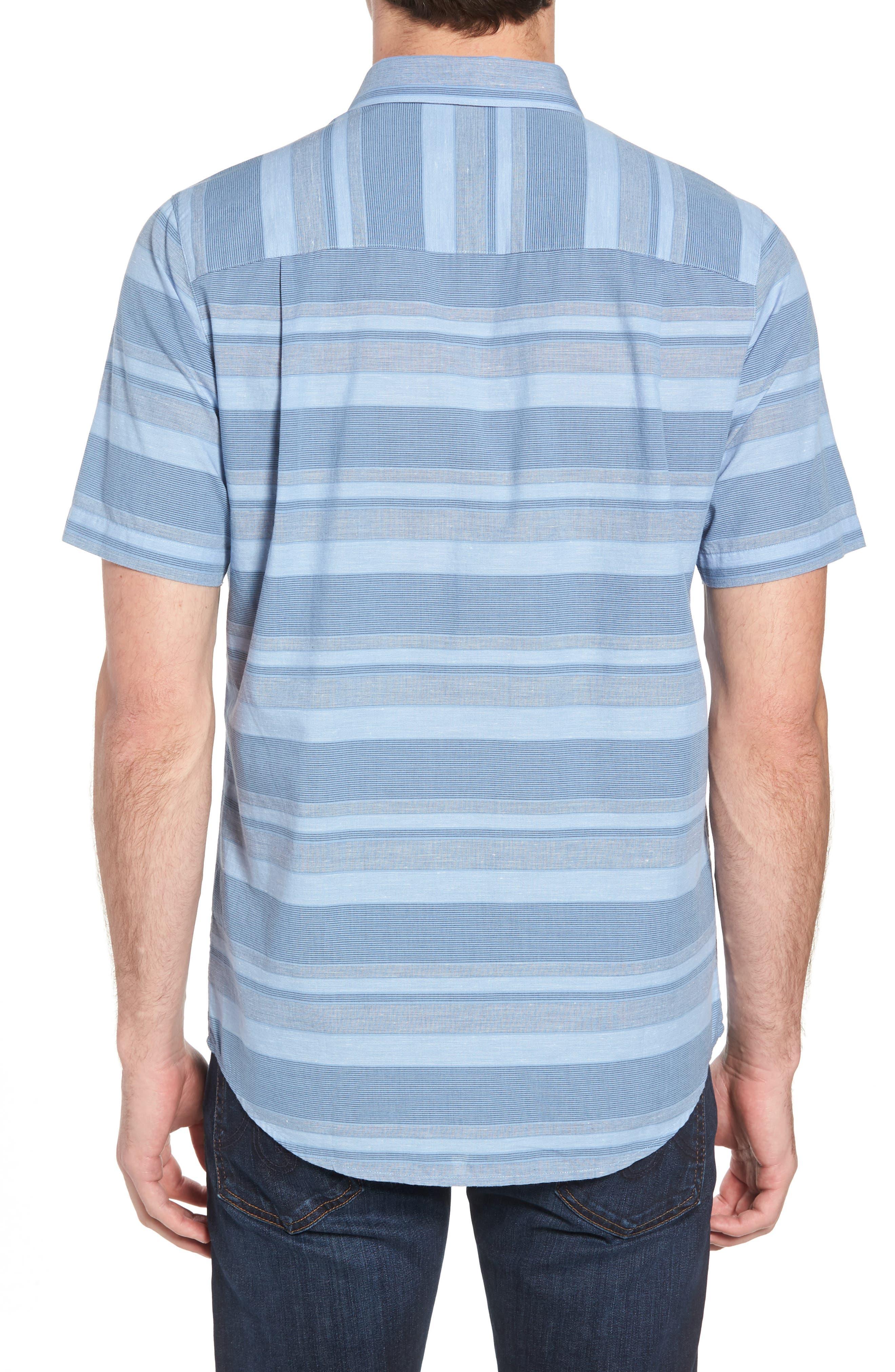 Mahe Regular Fit Sport Shirt,                             Alternate thumbnail 5, color,                             Heather Blue Nights
