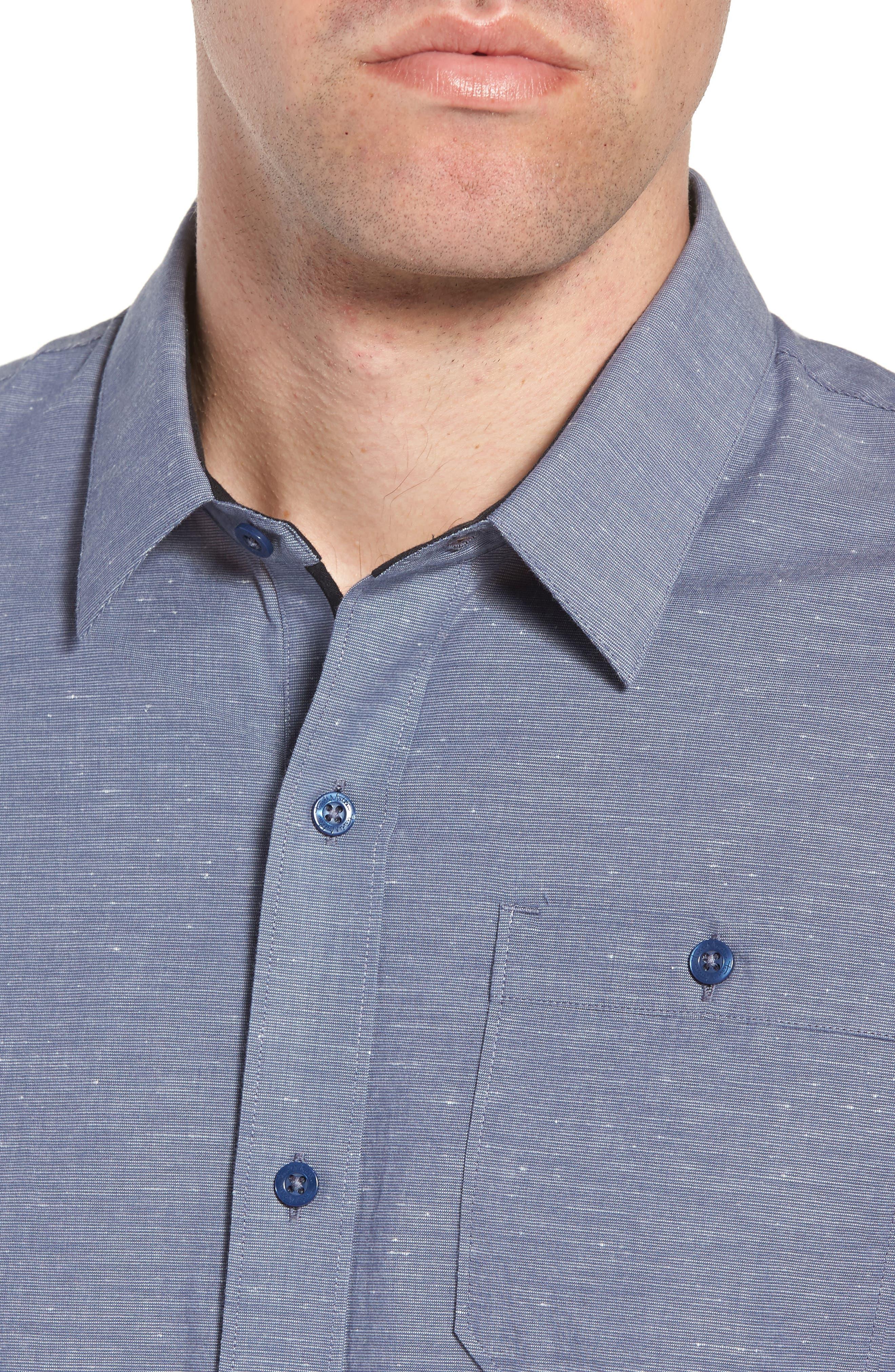 Studebaker Regular Fit Sport Shirt,                             Alternate thumbnail 2, color,                             Vintage Indigo