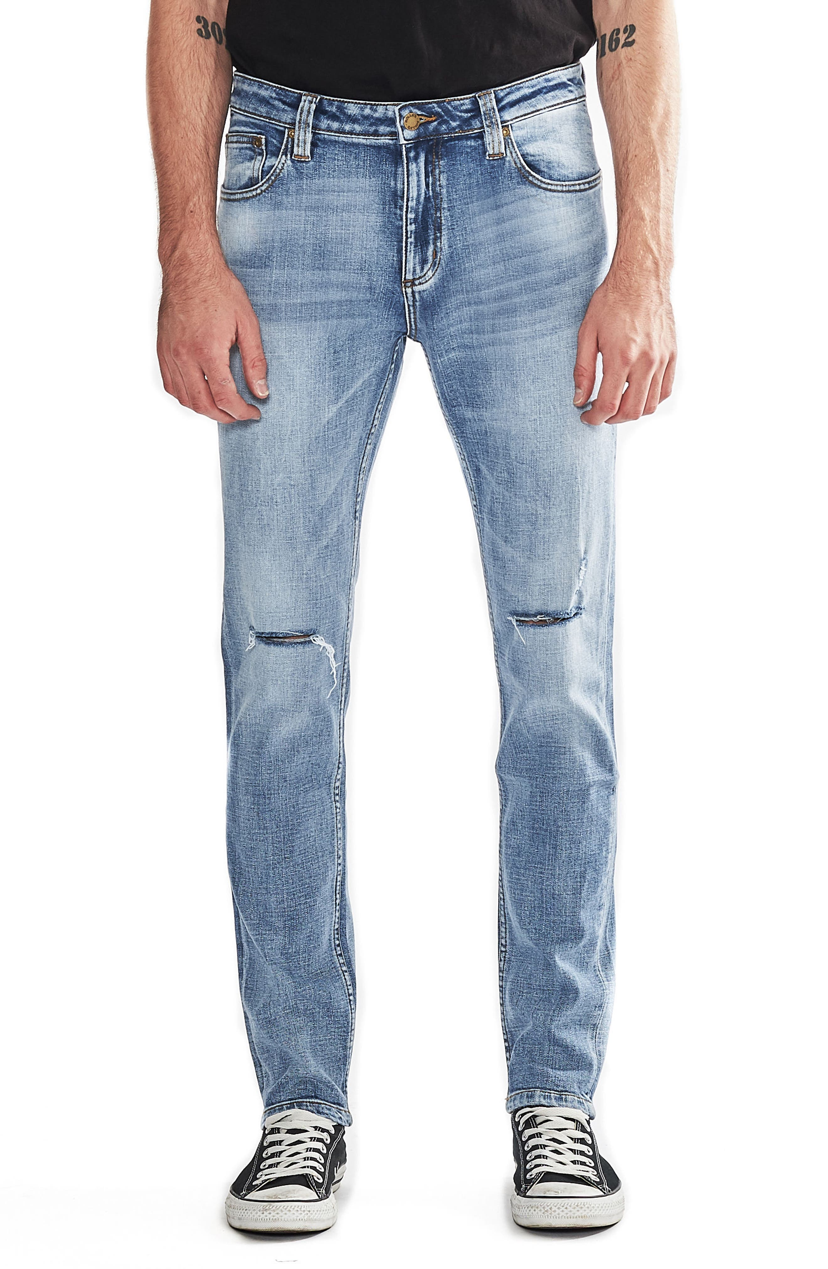 Rolla's Tim Slims Slim Fit Jeans (Trash Bag Authentic)