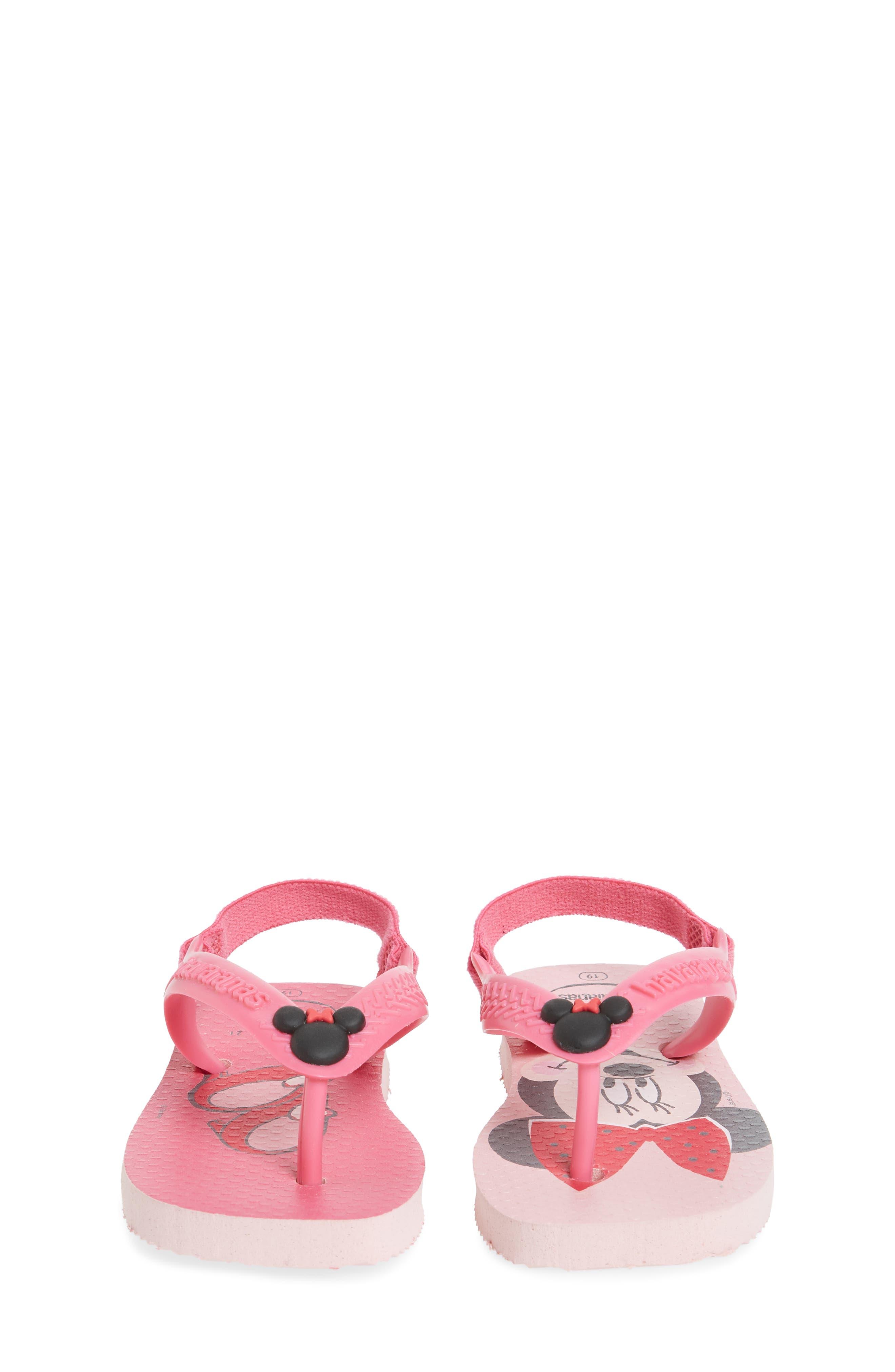 Baby Disney Classics Flip Flop,                             Alternate thumbnail 5, color,                             Pearl Pink