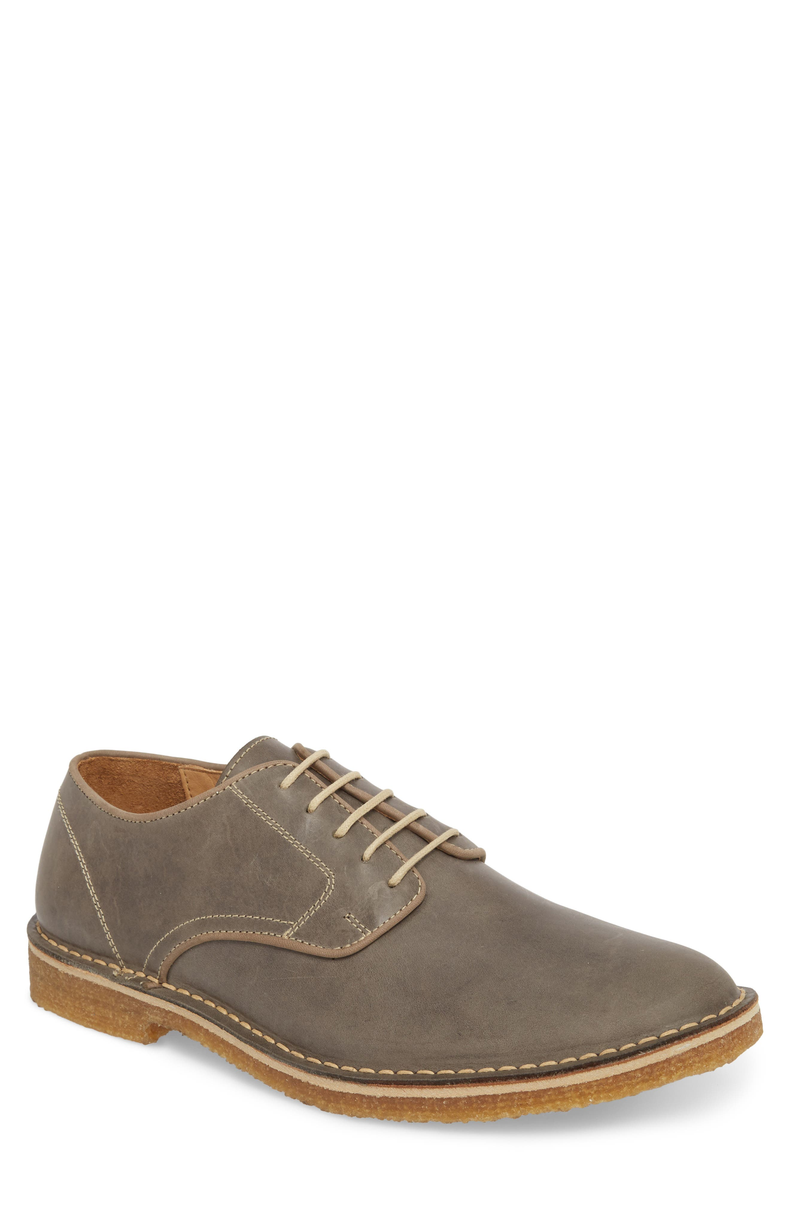 Crescent Buck Shoe,                         Main,                         color, Grey Leather