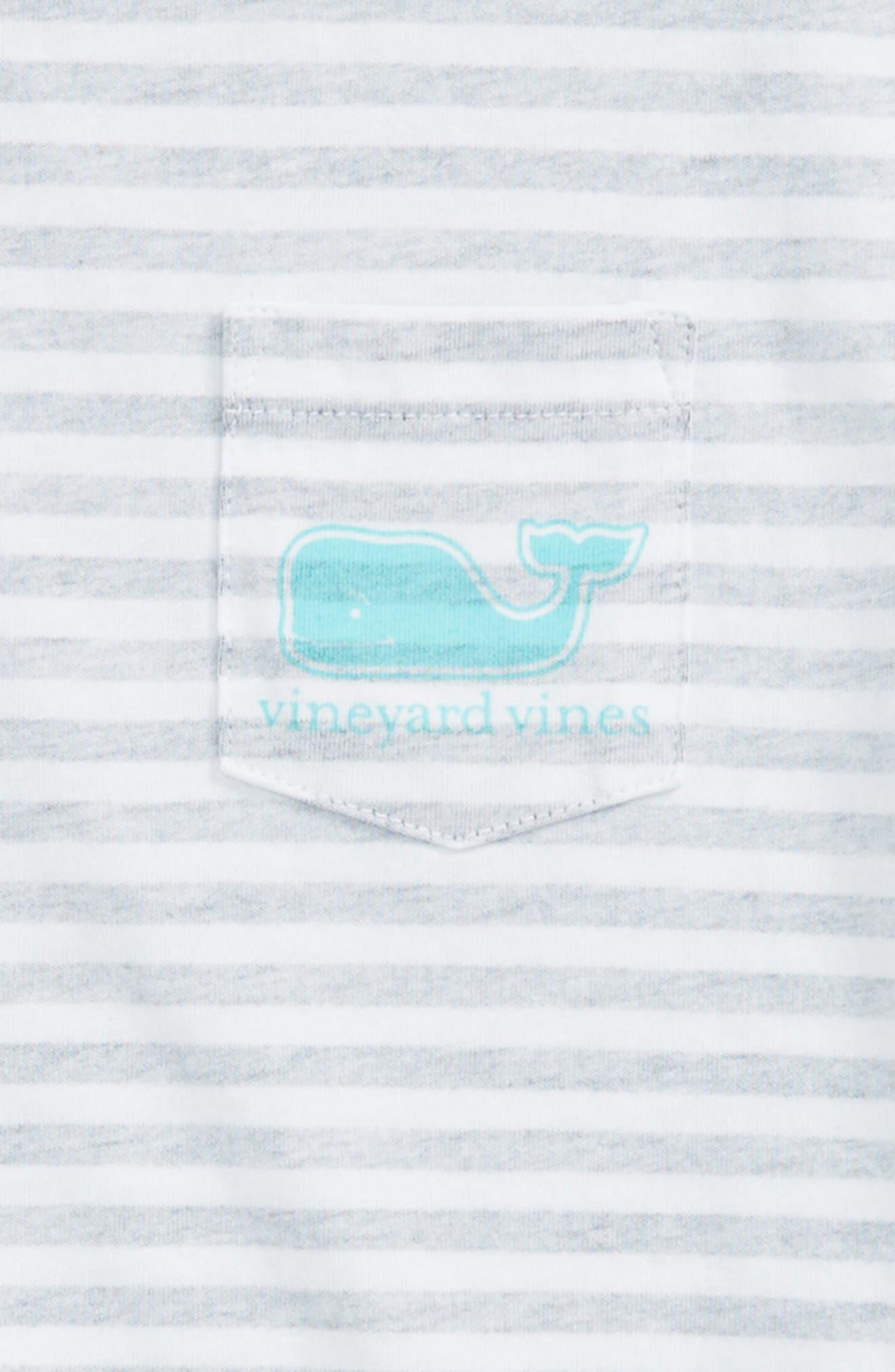 Stripe Whale Pocket Tee,                             Alternate thumbnail 3, color,                             Deep Bay
