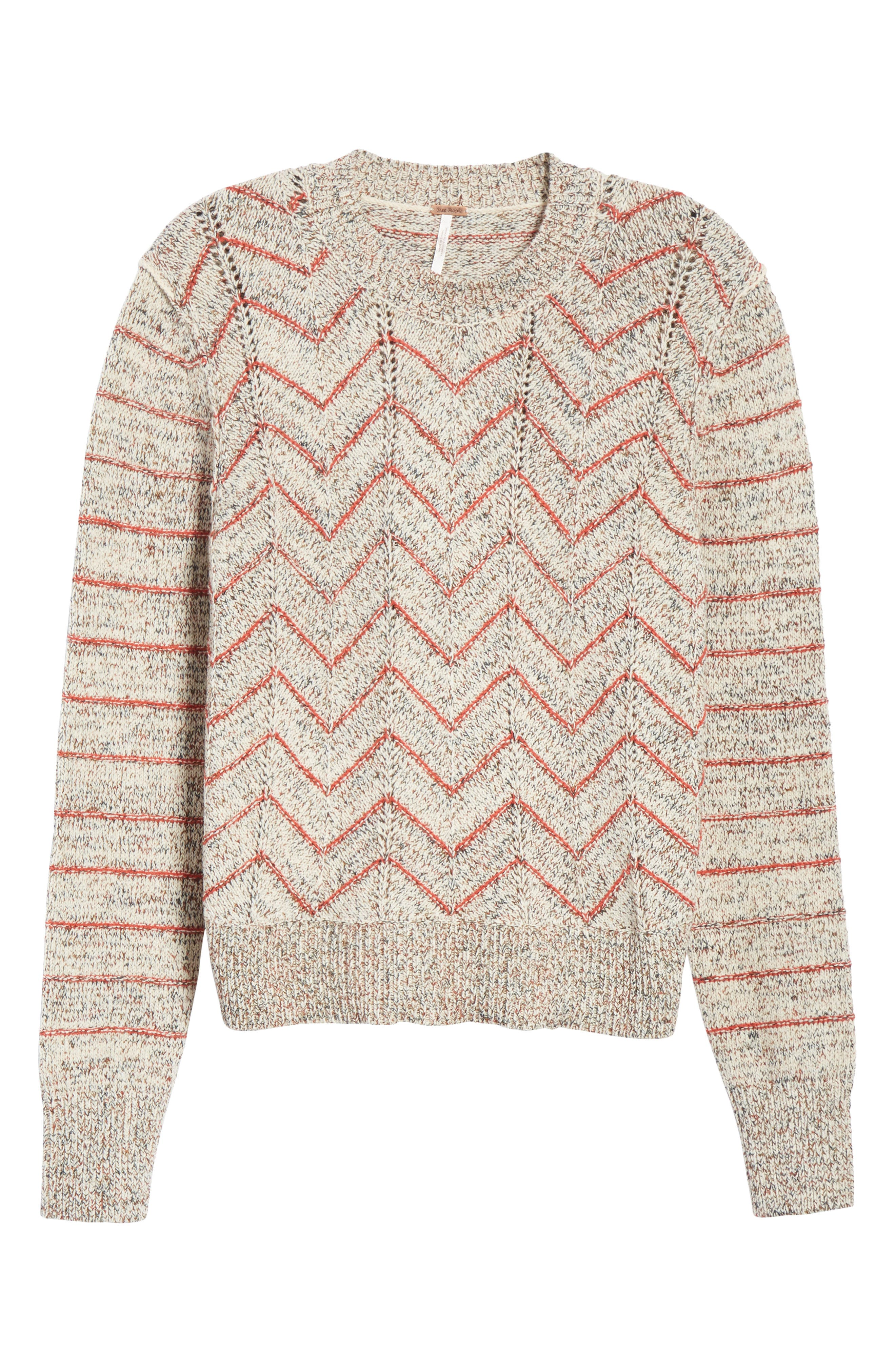 Zigzag Pullover,                             Alternate thumbnail 6, color,                             Ivory