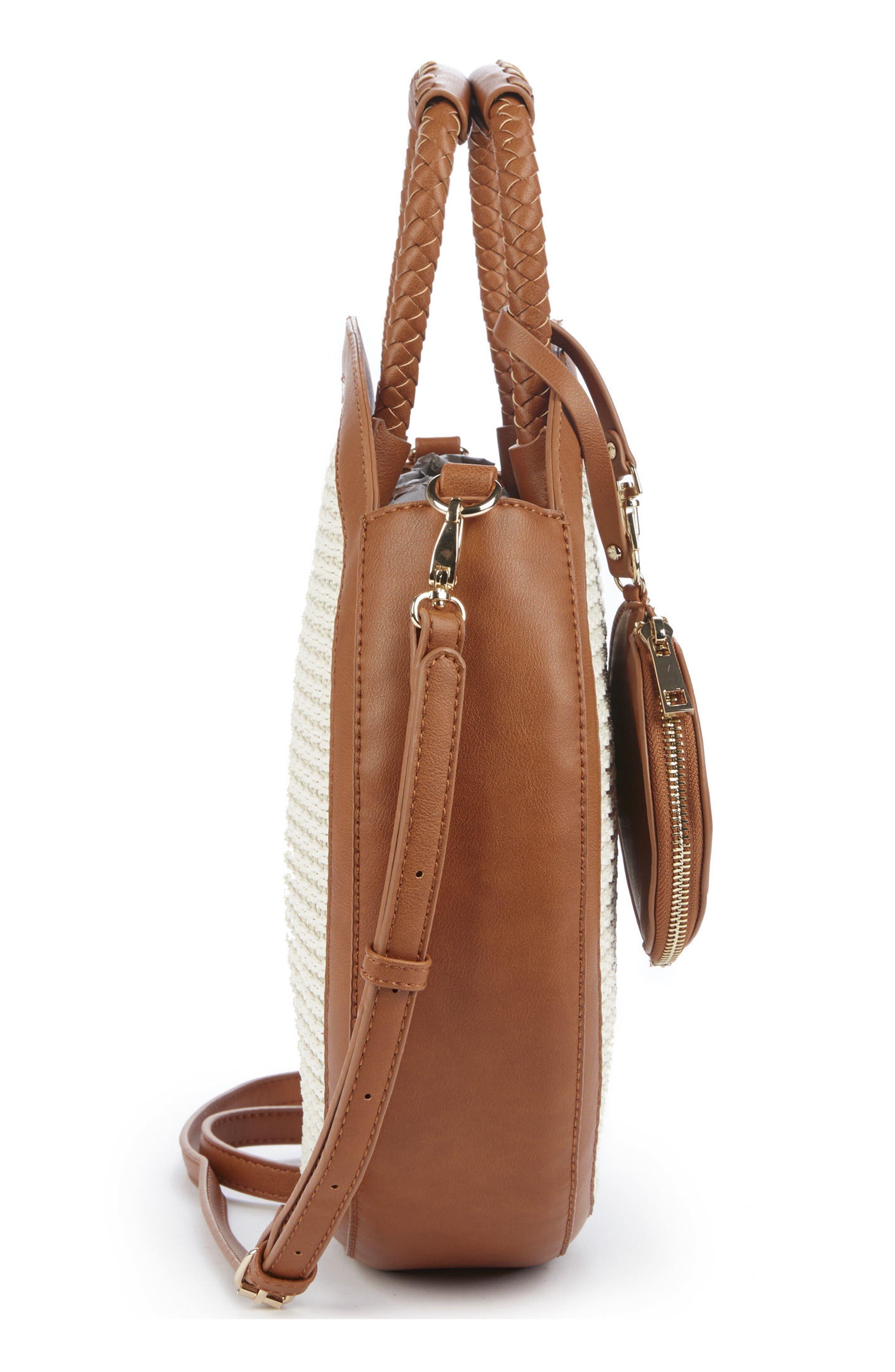 Market Canteen Crossbody Bag,                             Alternate thumbnail 4, color,                             Camel