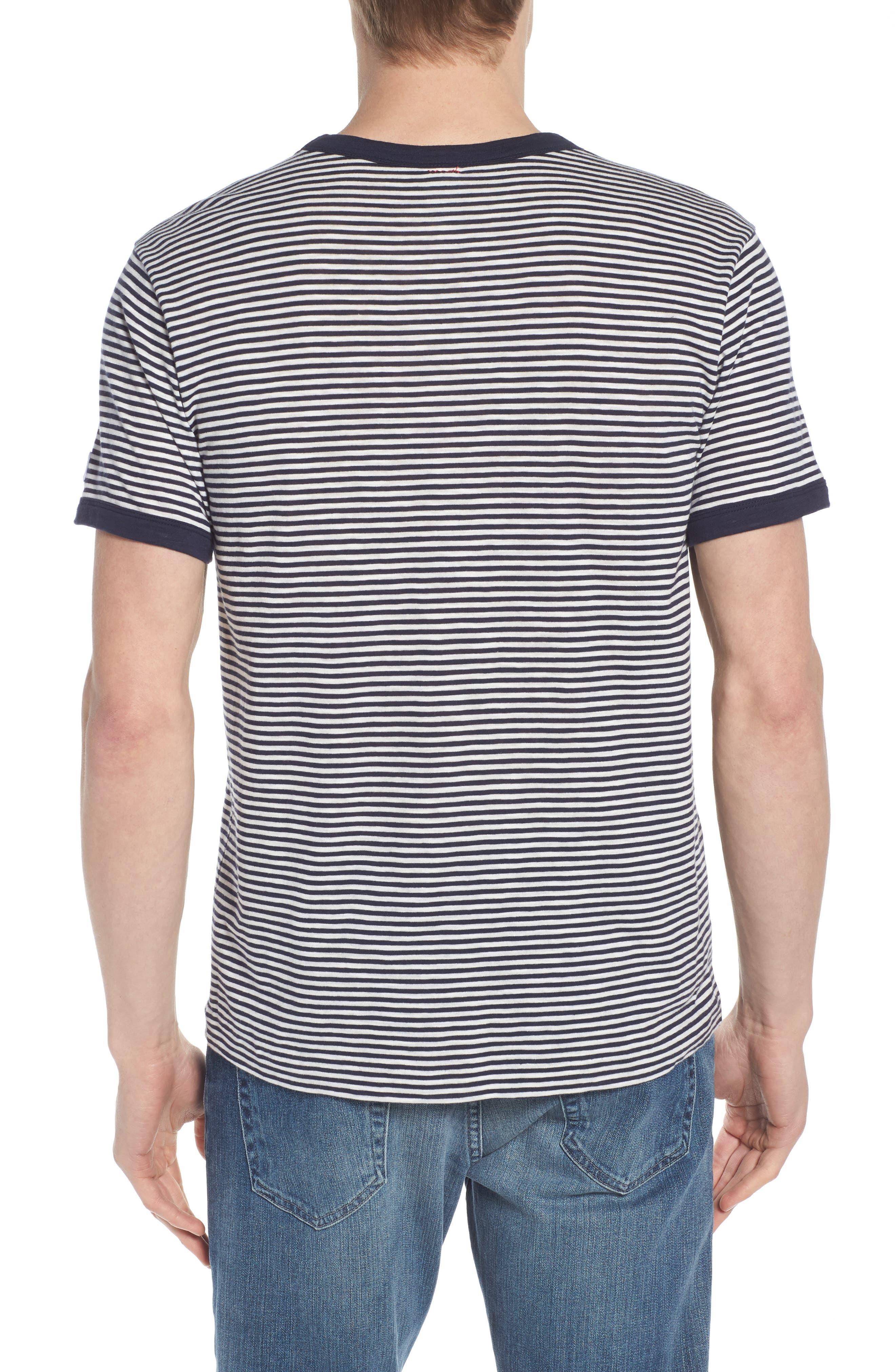 + Champion Stripe T-Shirt,                             Alternate thumbnail 2, color,                             Navy