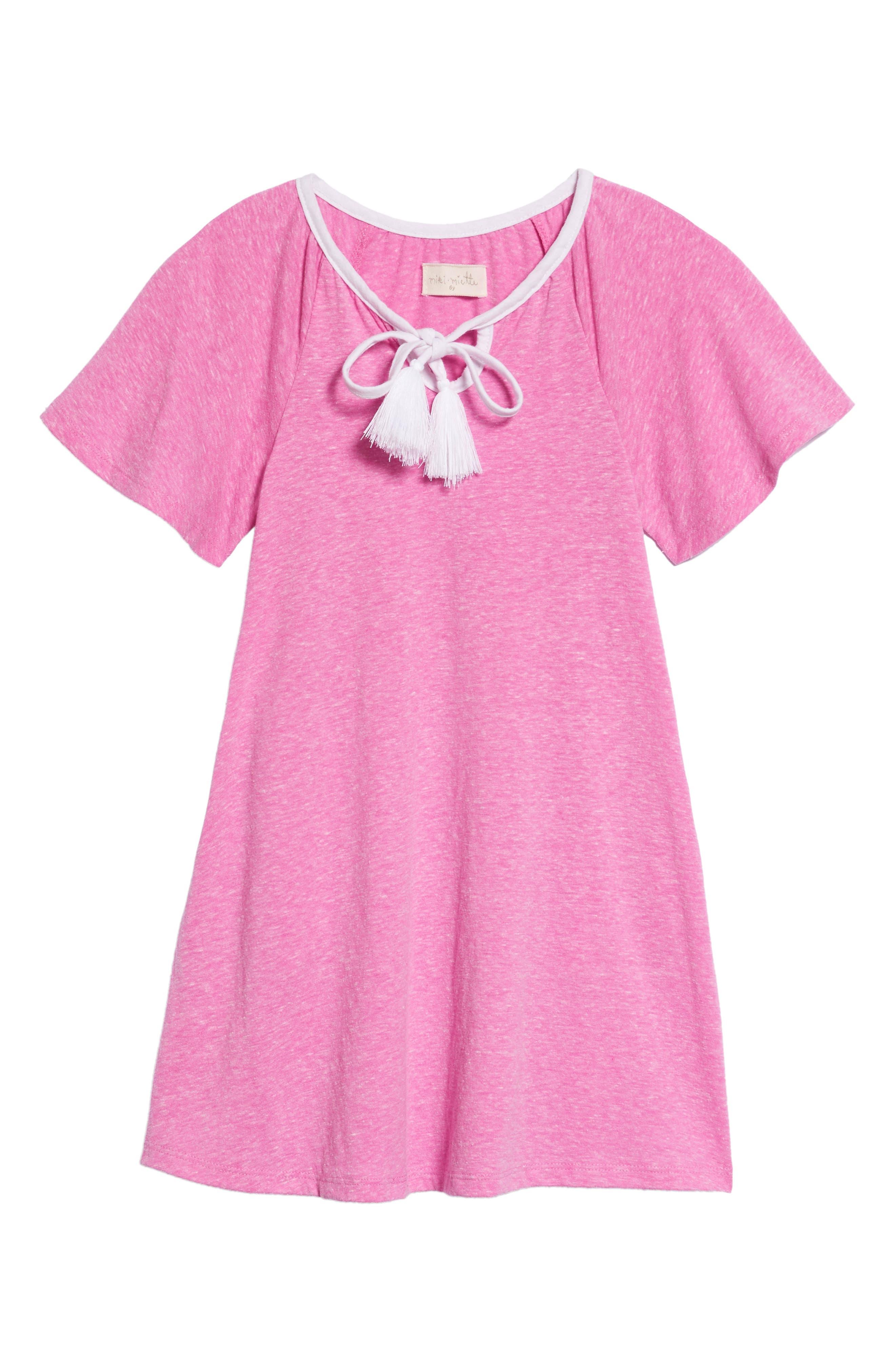 Miki Miette Luna Tassel Tie Dress (Toddler Girls & Little Girls)